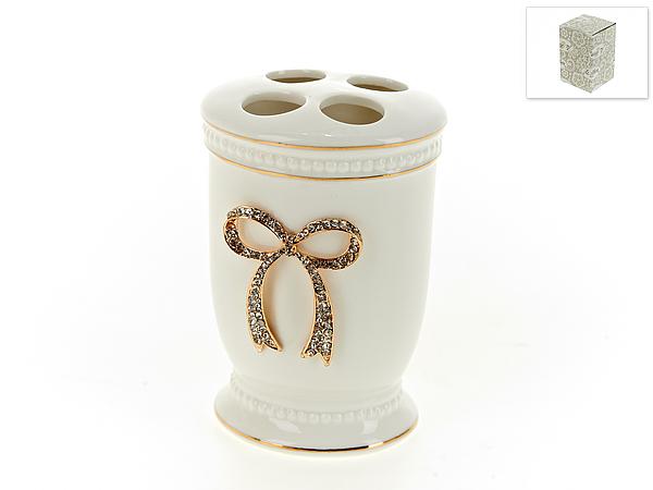 {} White CLEAN Стакан для зубных щеток Элегант (7х8х12 см) white clean стакан для зубных щеток