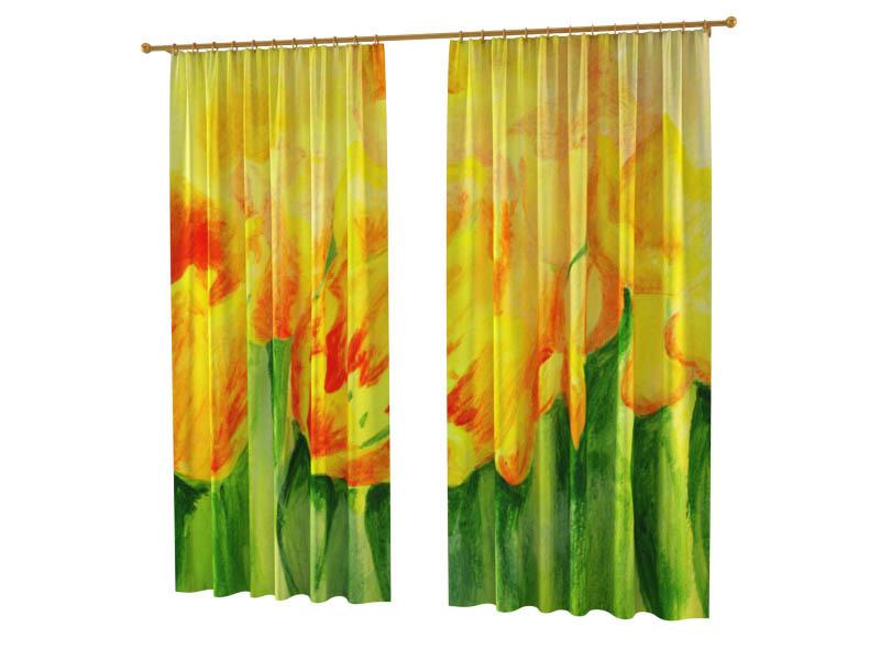 Шторы StickButik Фотошторы Желтые Тюльпаны шторы stickbutik фотошторы тюльпаны над водой