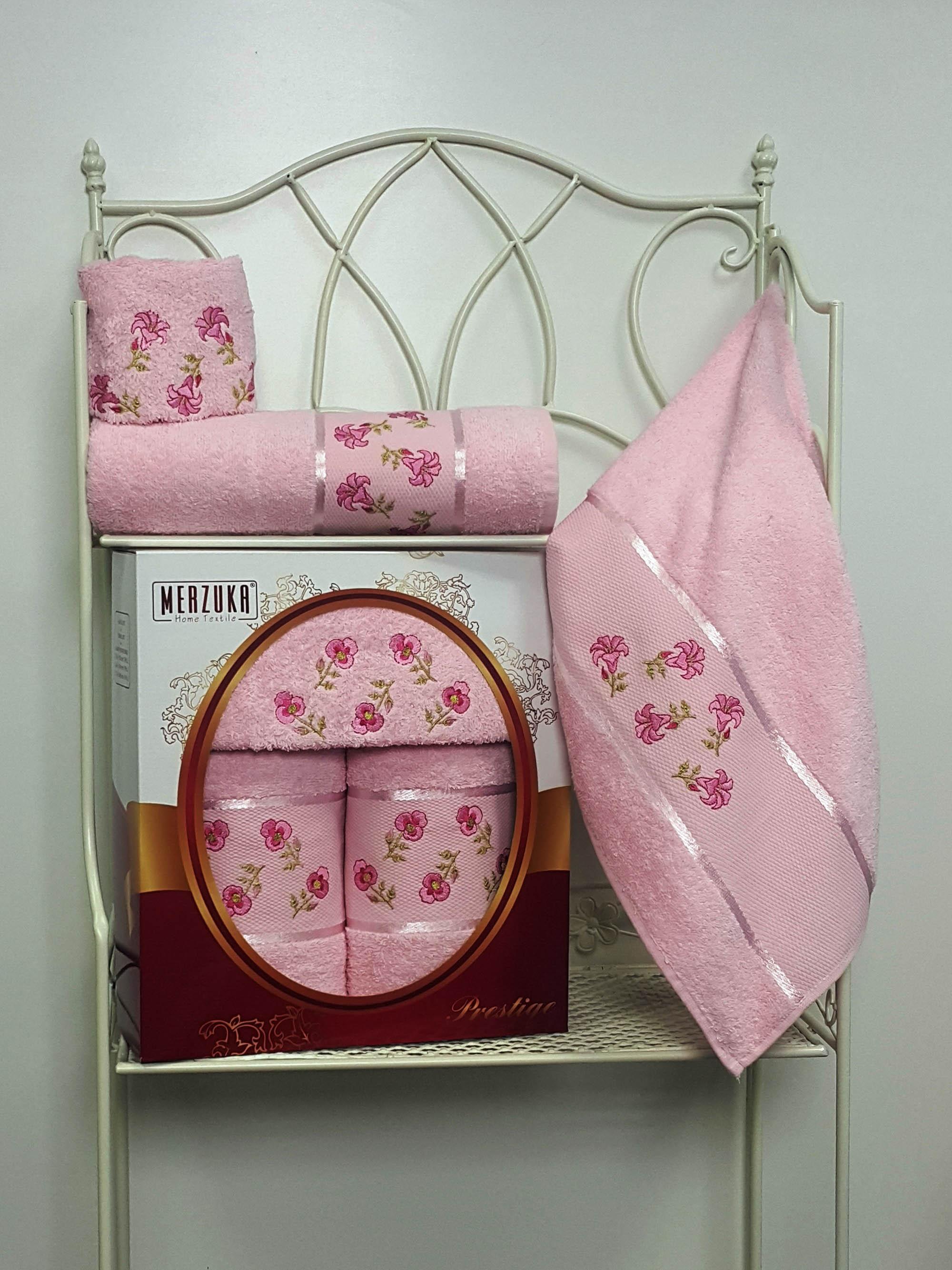 Полотенца Oran Merzuka Набор из 3 полотенец Prestij Цвет: Светло-Розовый набор из 3 полотенец merzuka sakura 50х90 2 70х140 8432 розовый
