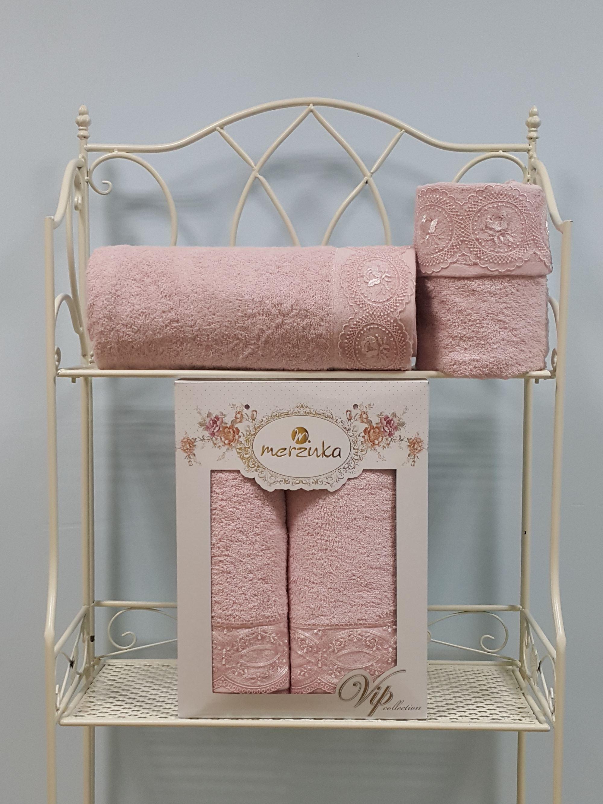 Полотенца Oran Merzuka Набор из 2 полотенец Elit Цвет: Розовый набор из 3 полотенец merzuka sakura 50х90 2 70х140 8432 розовый