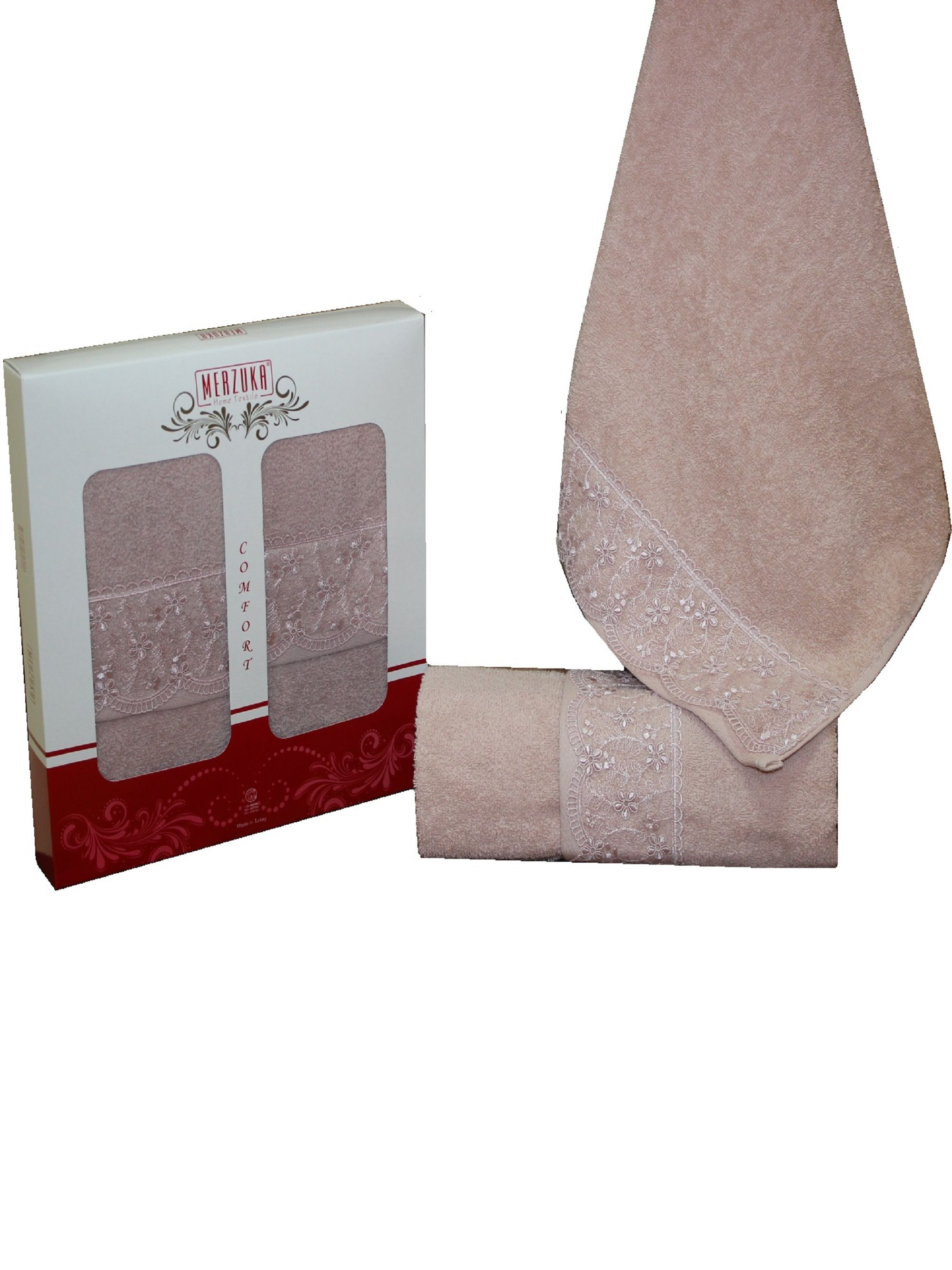 Полотенца Oran Merzuka Полотенце Elit Цвет: Темно-Розовый (50х90 см - 2 шт) набор из 2 полотенец merzuka sakura 50х90 70х140 8430 кремовый