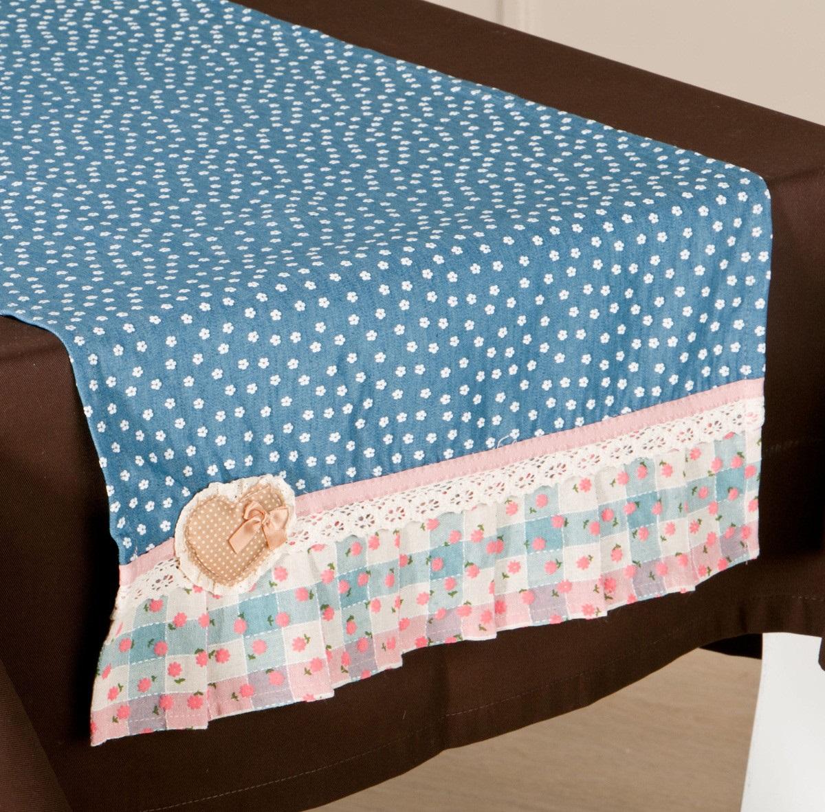 {} Santalino Дорожка-наперон Джинсовое Сердце (41х96 см) полотенце для кухни арти м джинсовое сердце