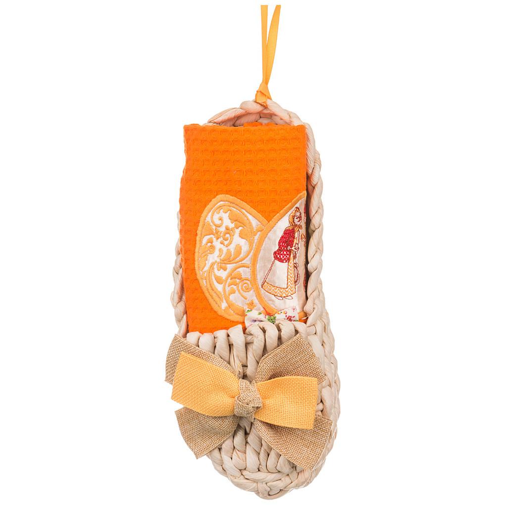 Рукавицы, прихватки, фартуки Santalino Органайзер-лапоть + салфетка Пасхальные Традиции 40х60 см полотенце для кухни арти м пасхальные традиции