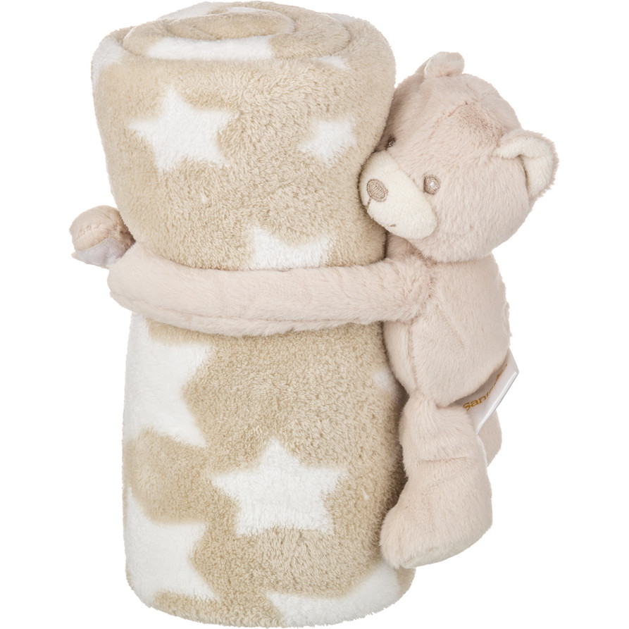 Детские покрывала, подушки, одеяла Santalino Детский плед с игрушкой Звездный Мишка (75х100 см) плед детский арти м 75х100 см розовый мишка
