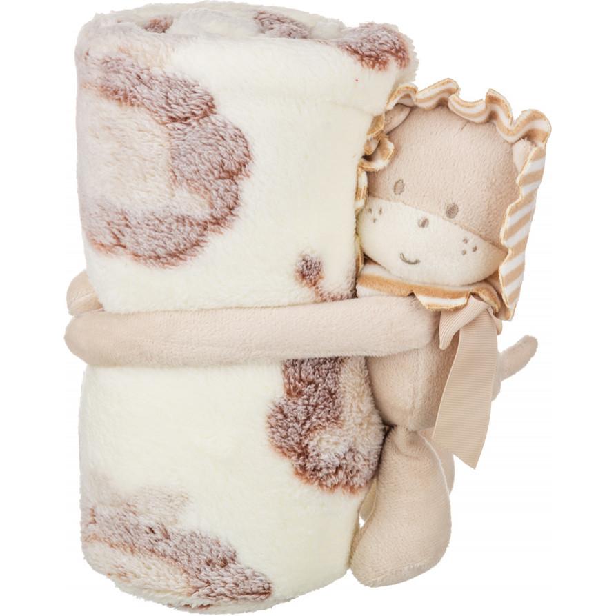 Детские покрывала, подушки, одеяла Santalino Детский плед с игрушкой Лёва (75х100 см) плед детский арти м 75х100 см розовый мишка