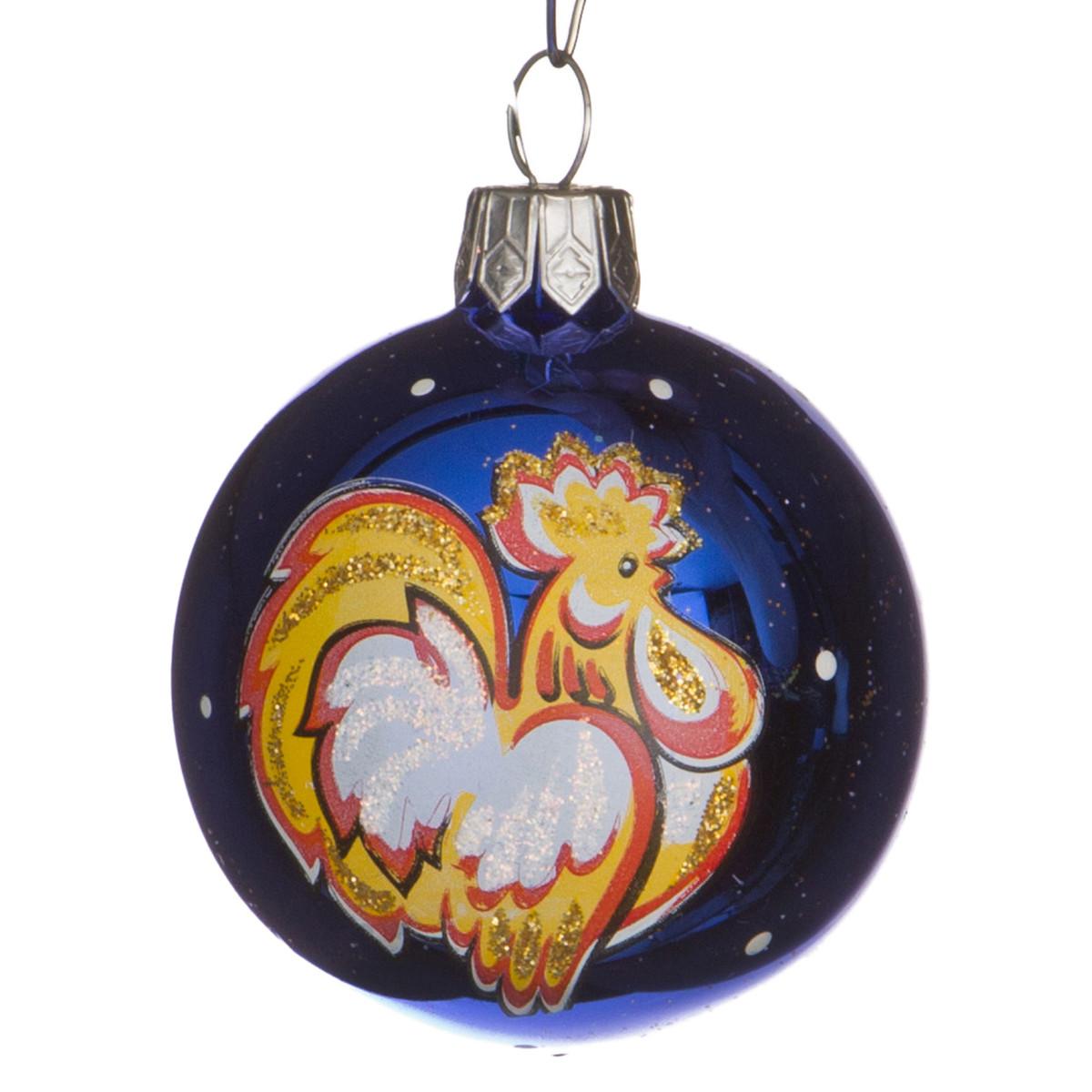 {} Arti-M Шар новогодний Восточный Гороскоп Петух (5 см) елизавета данилова восточный гороскоп