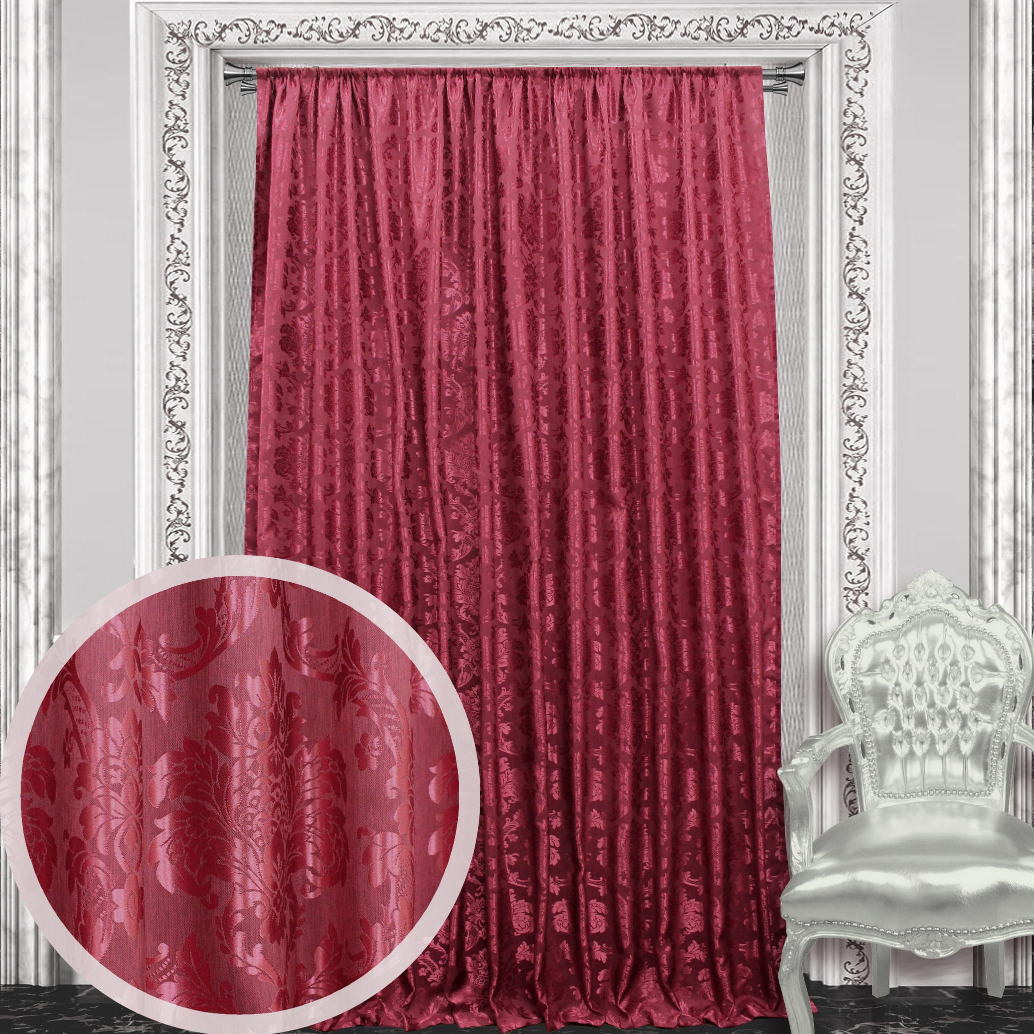 Шторы Amore Mio Классические шторы Janessa Цвет: Бордовый босоножки janessa janessa ja026awtub10