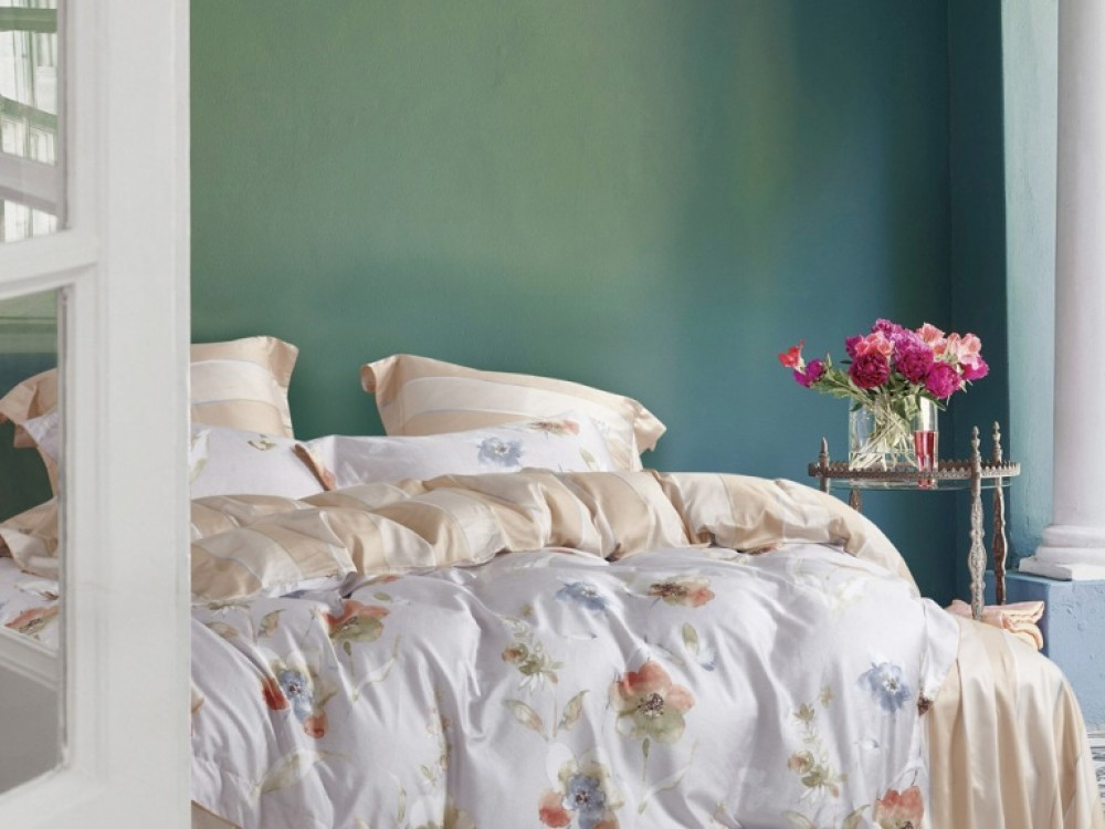Постельное белье Asabella Постельное белье Kendal (1,5 спал.) постельное белье asabella постельное белье 1 5 спальное тенсел сатин