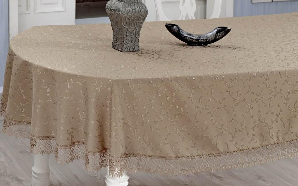 Скатерти и салфетки Verolli Скатерть Evdy Цвет: Кофейный (160х300 см) цены онлайн
