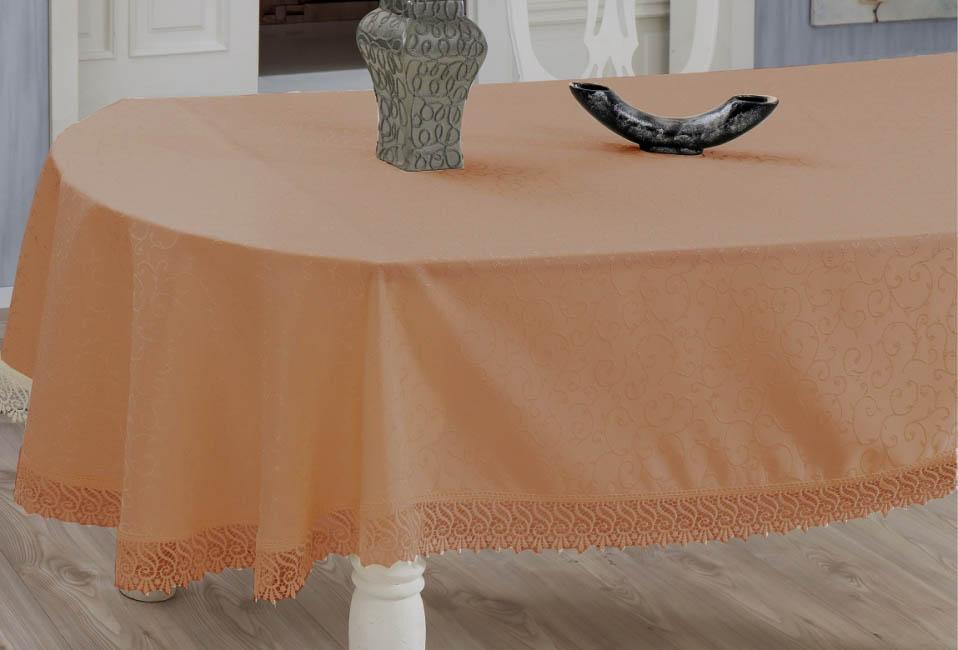 Скатерти и салфетки Verolli Скатерть Evdy Цвет: Золотистый (160х300 см) цены онлайн