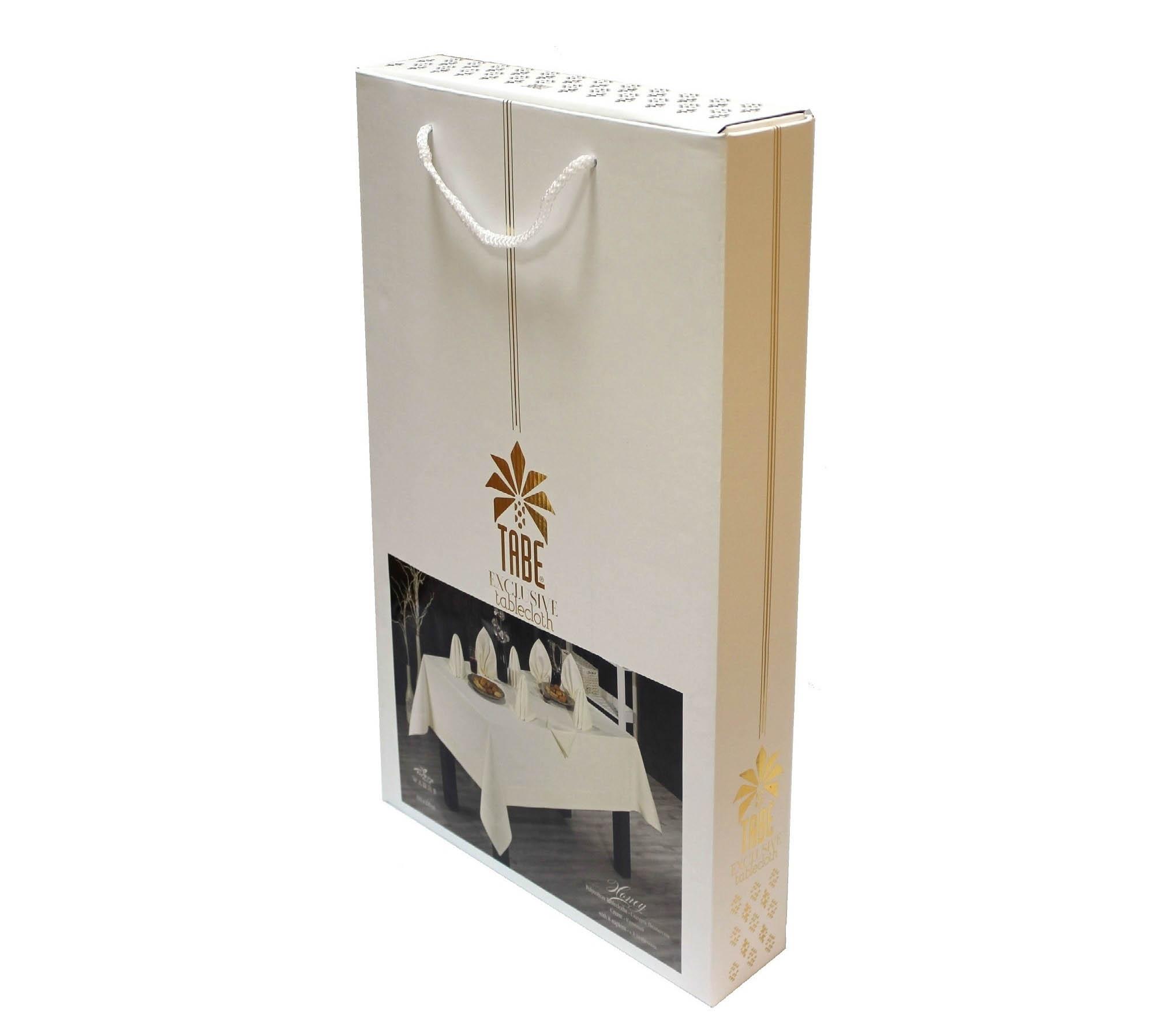 Скатерти и салфетки TABE Скатерть Honey Цвет: Белый (160х220 см)