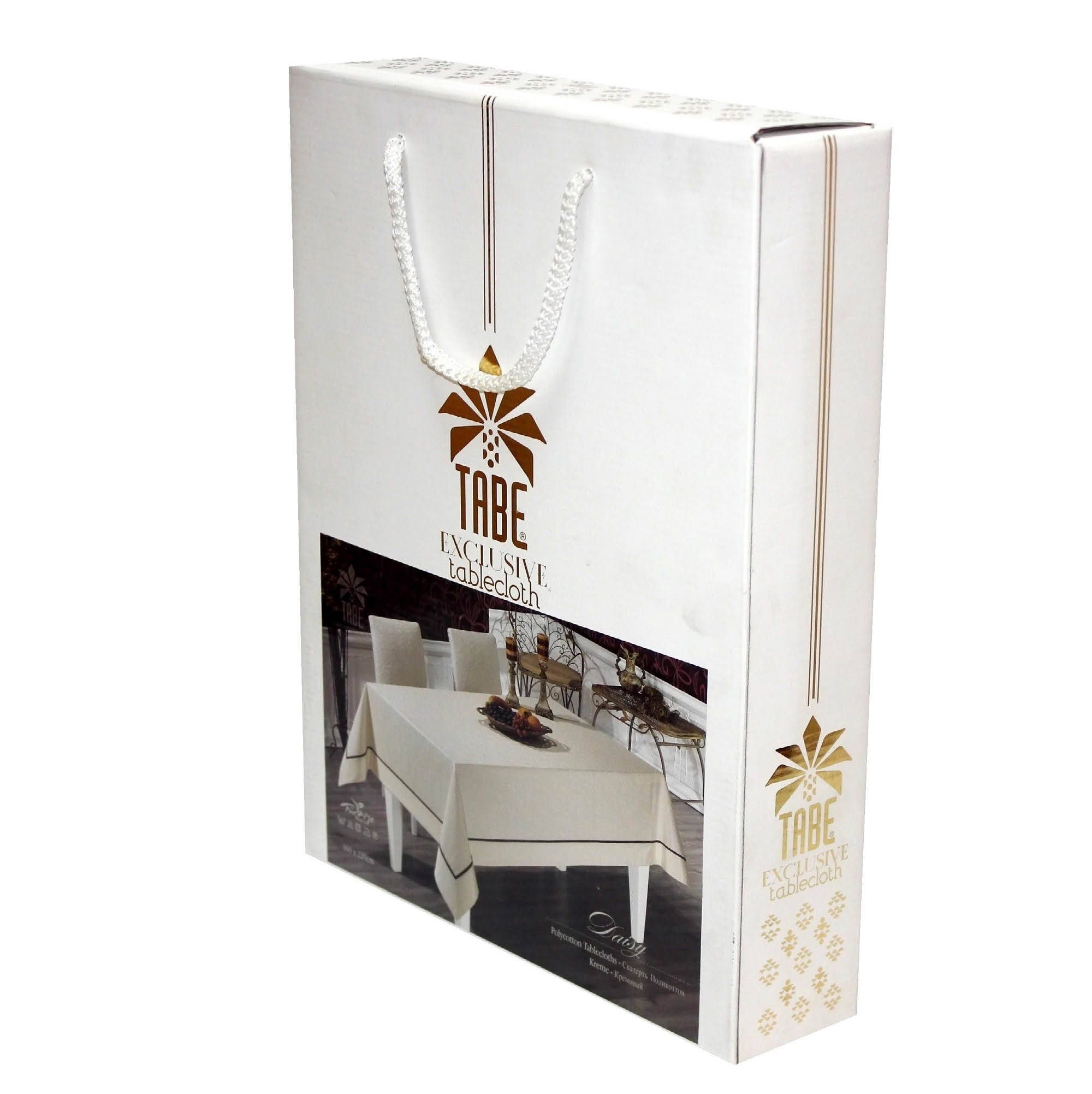 Скатерти и салфетки TABE Скатерть Jole Цвет: Белый (160х220 см)