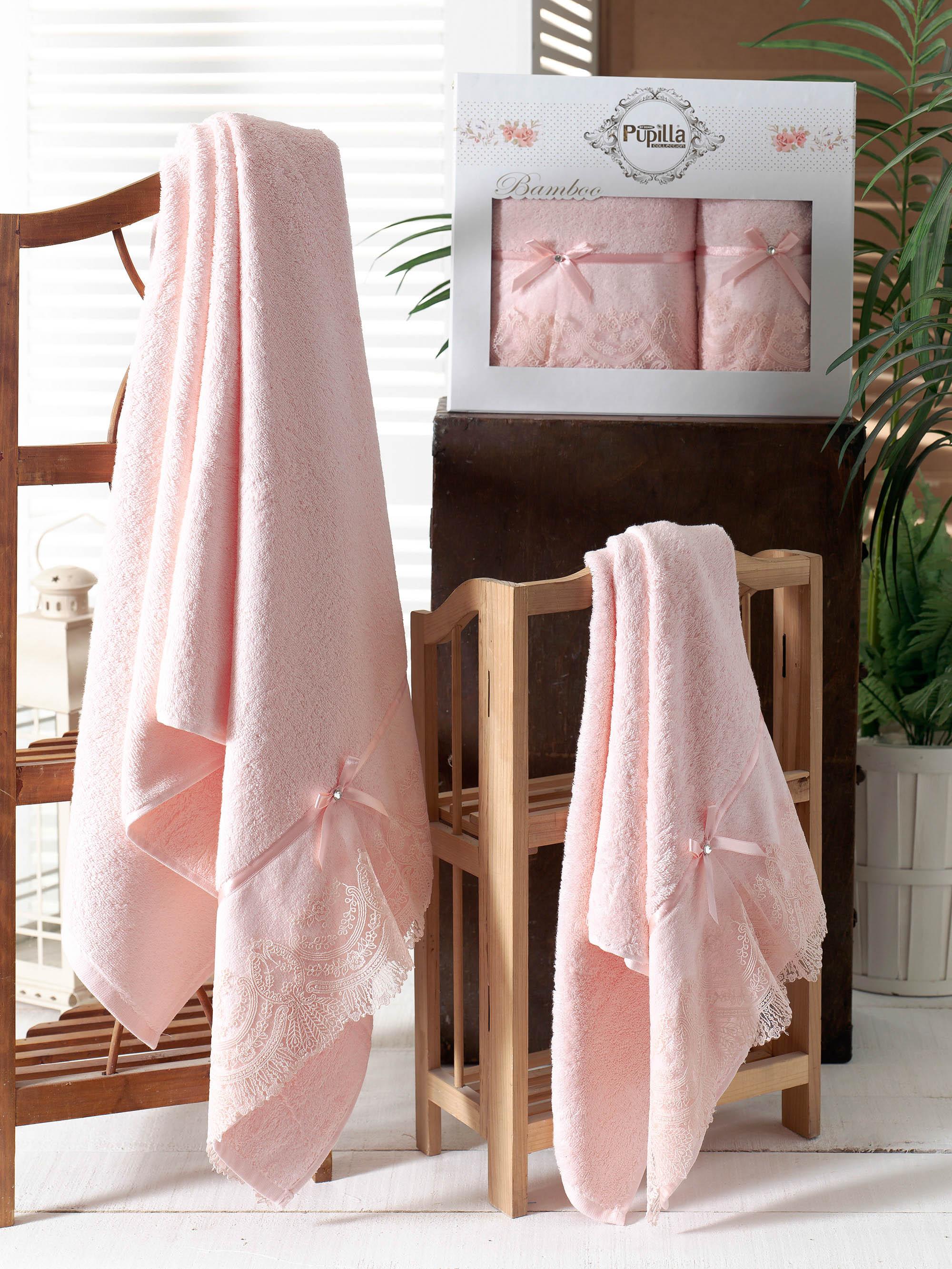 Полотенца Pupilla Набор из 2 полотенец Vita Цвет: Розовый набор полотенец 2 шт fiesta textile цвет розовый