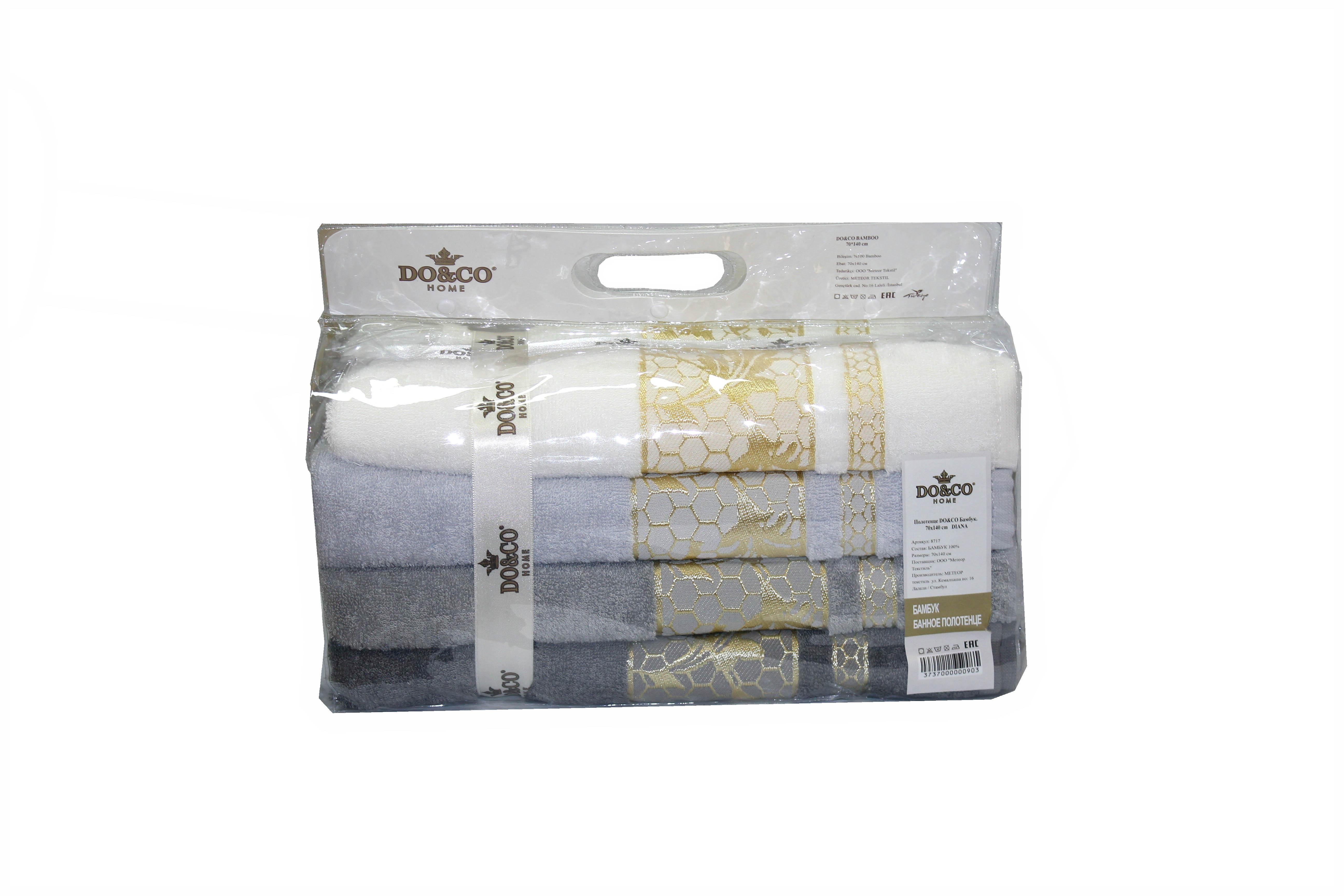 Полотенца DO'n'CO Набор Полотенец Diana (70х140 см - 4 шт) полотенца do n co набор полотенец clara 70х140 см 4 шт