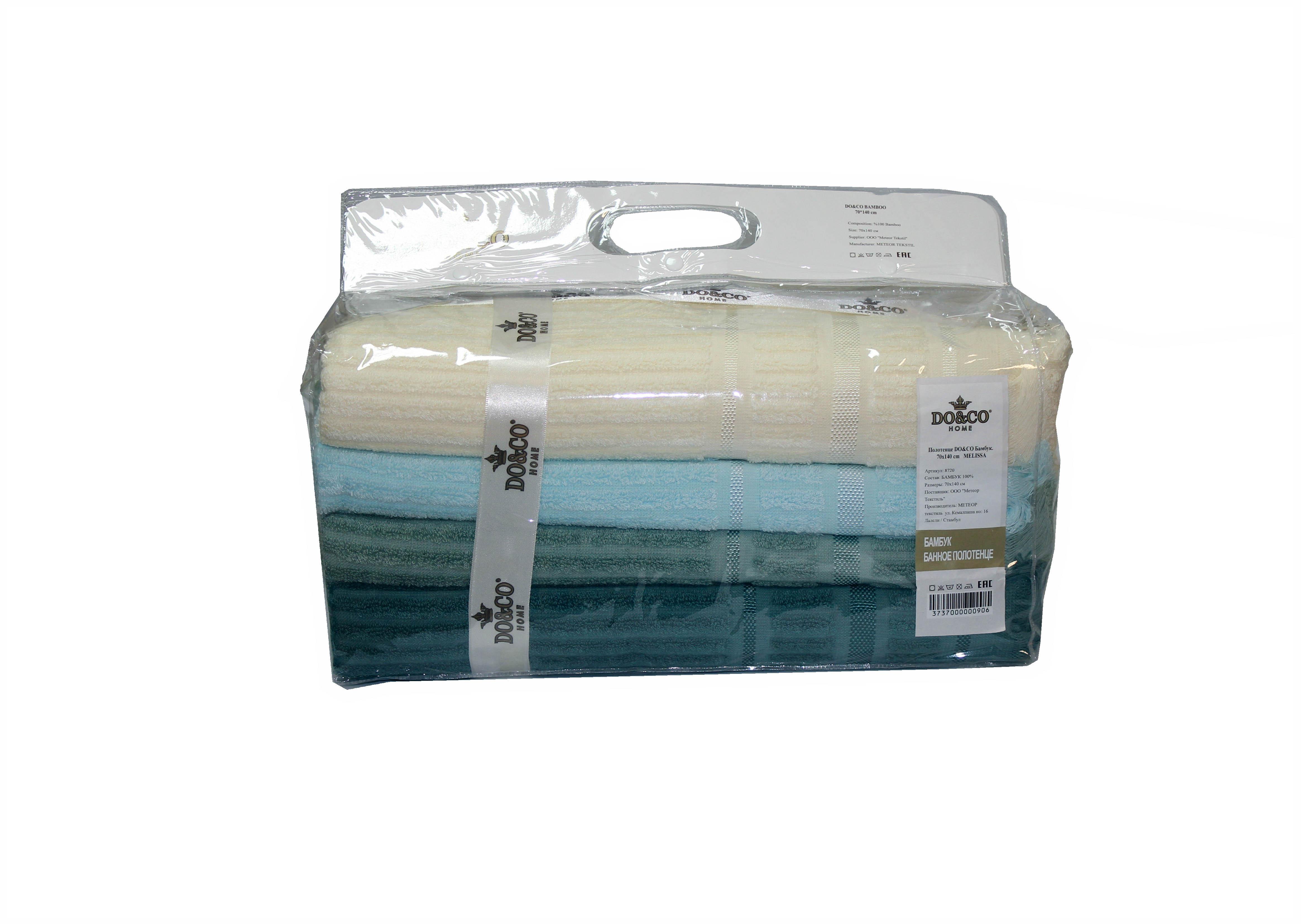 Полотенца DO'n'CO Набор Полотенец Melissa (50х90 см - 4 шт) полотенца кухонные la pastel набор полотенец 4 предмета из микрофибры 30х30