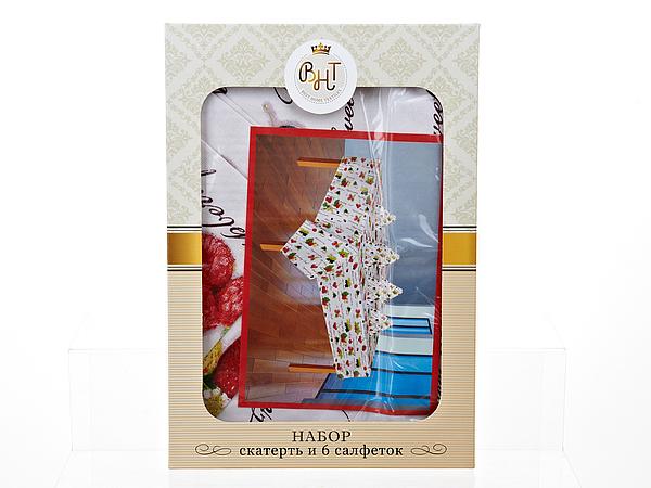 Скатерти и салфетки Best Home Textiles Скатерть с салфетками Садовая Ягода (140х140 см) все цены