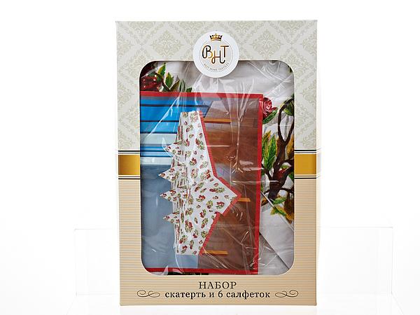 Скатерти и салфетки Best Home Textiles Скатерть с салфетками Рябина (140х140 см) world textiles a sourcebook