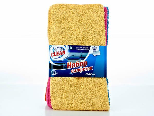 {} White CLEAN Салфетки Clean (28х28 см - 6 шт) 28 6 37