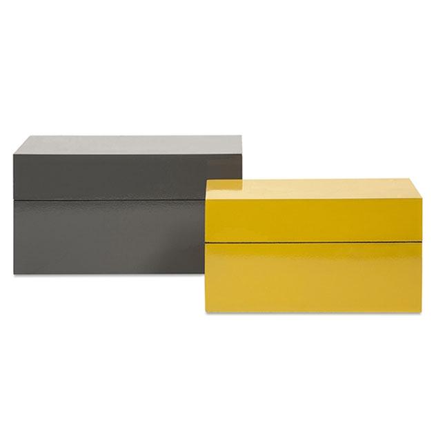 {} Home Philosophy Коробка-контейнер Duarte Цвет: Желтый-Серый (Набор) home philosophy статуэтка lissan цвет красный черный набор