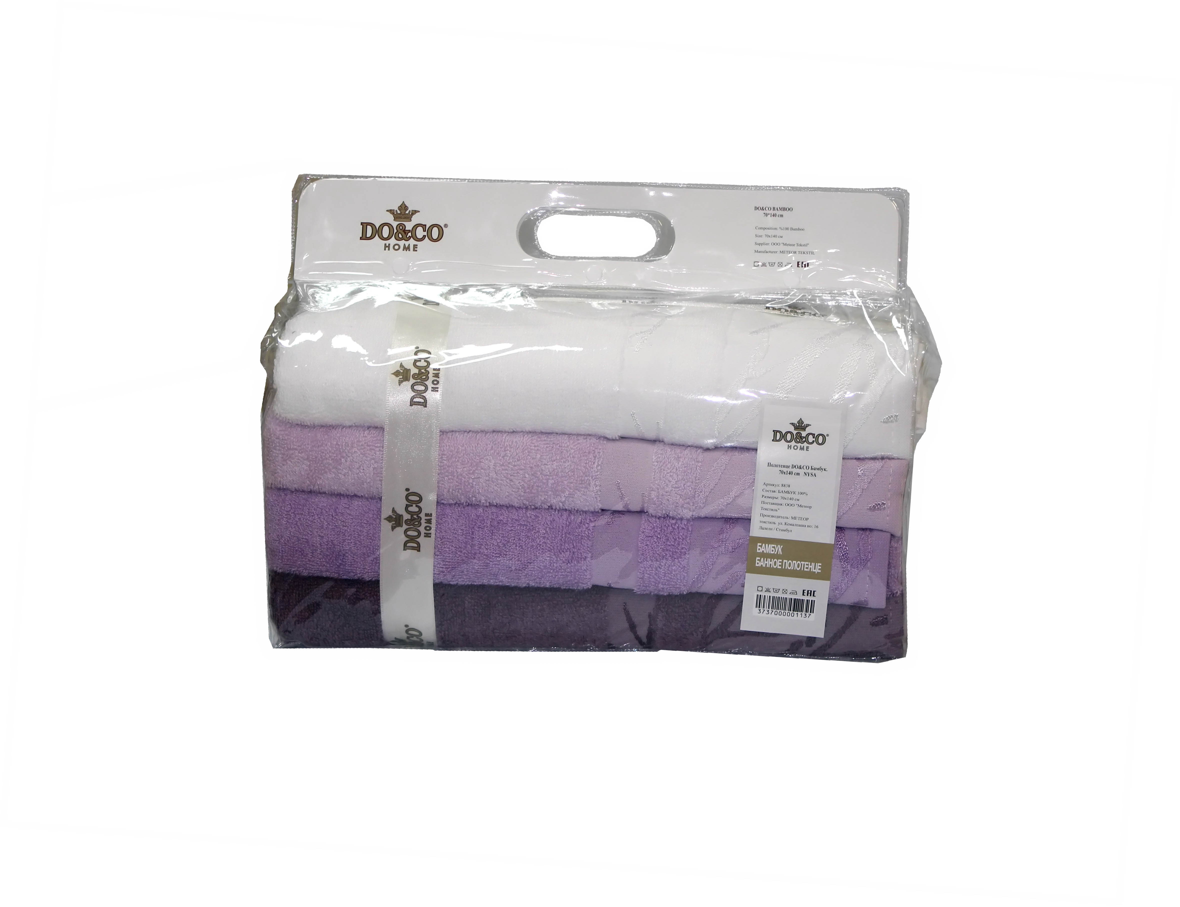 Полотенца DO'n'CO Набор Полотенец Nysa (70х140 см - 4 шт) полотенца кухонные la pastel набор полотенец 4 предмета из микрофибры 30х30
