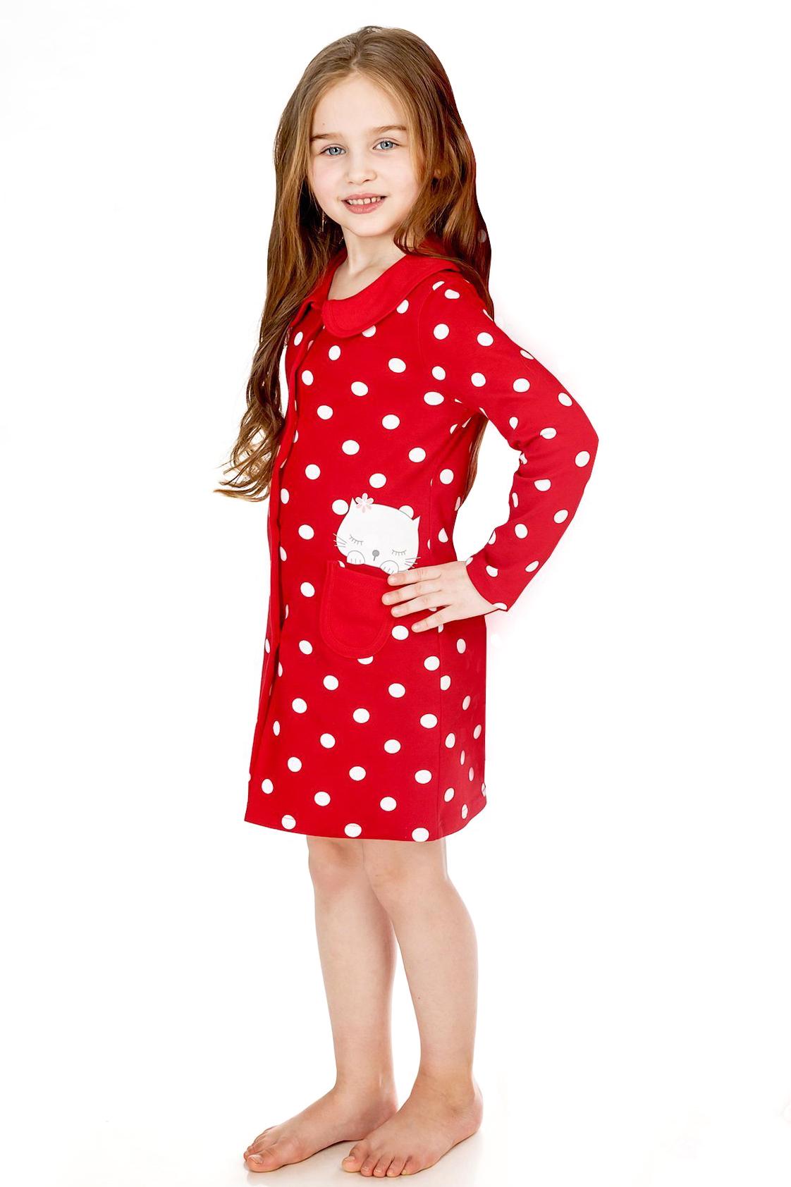 Детские домашние халаты Pastilla Детский халат Лапочка Цвет: Красный (6 лет) uгде в кузбассе дешево детский трикотаж