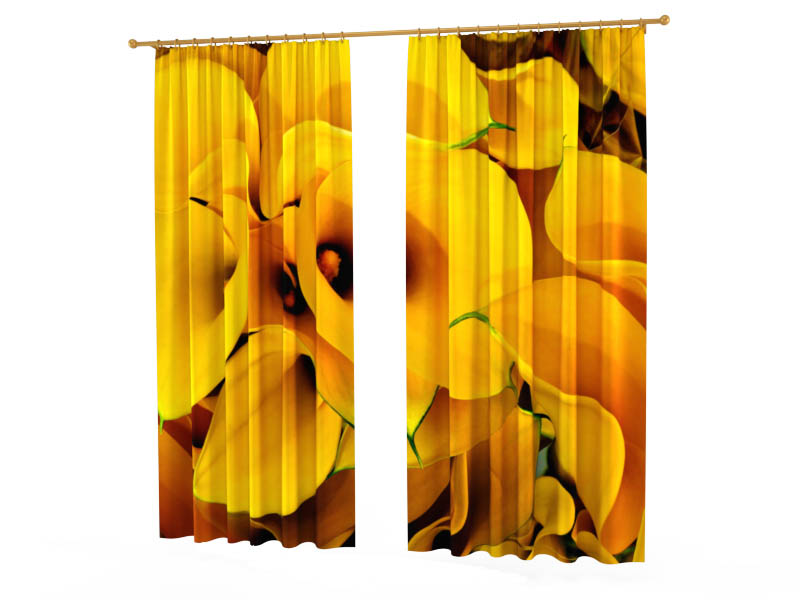 Шторы StickButik Фотошторы Желтые Каллы шторы stickbutik фотошторы желтые квадроциклы