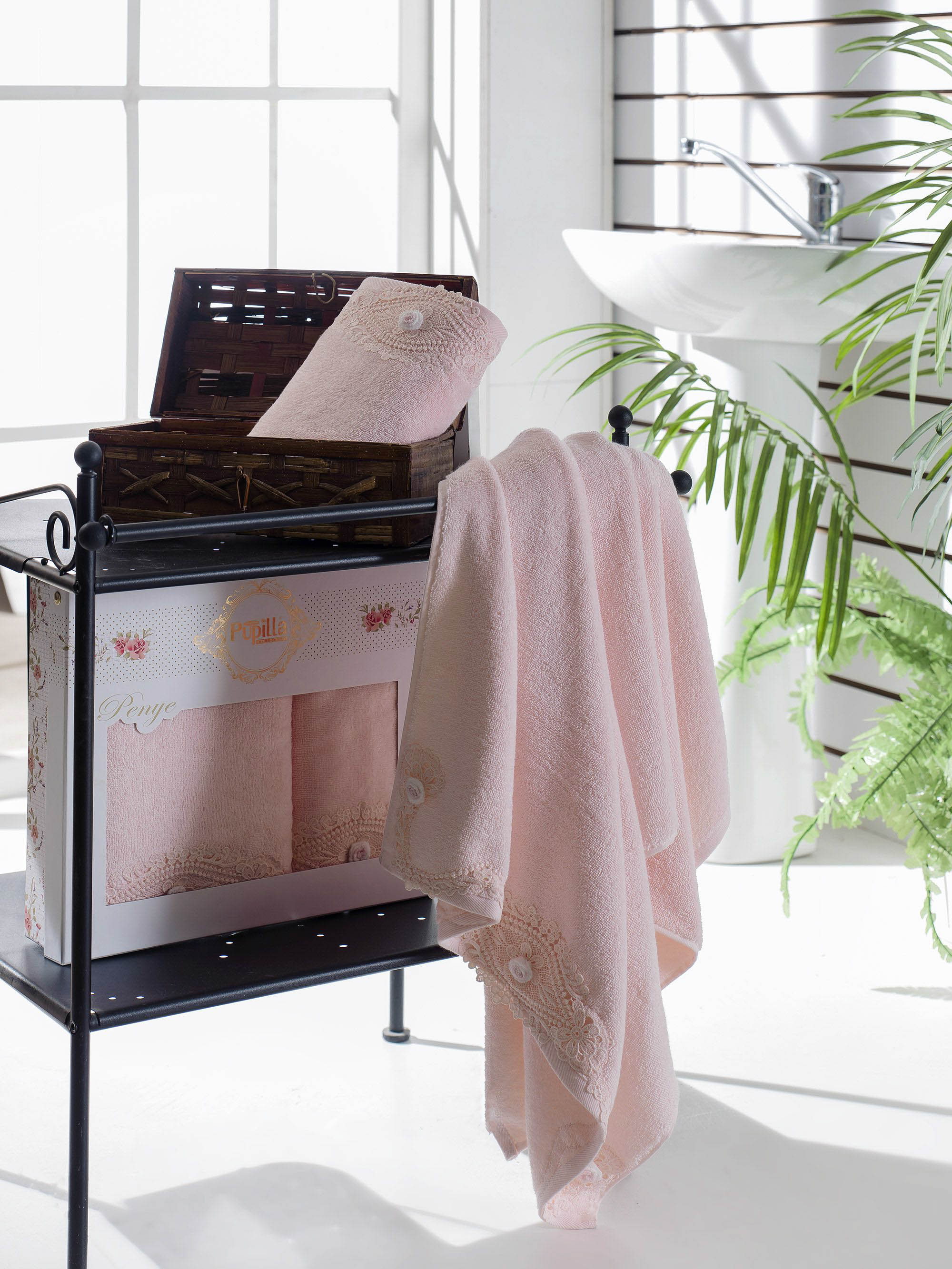 Полотенца Pupilla Набор из 2 полотенец Daisy Цвет: Розовый набор полотенец 2 шт fiesta textile цвет розовый