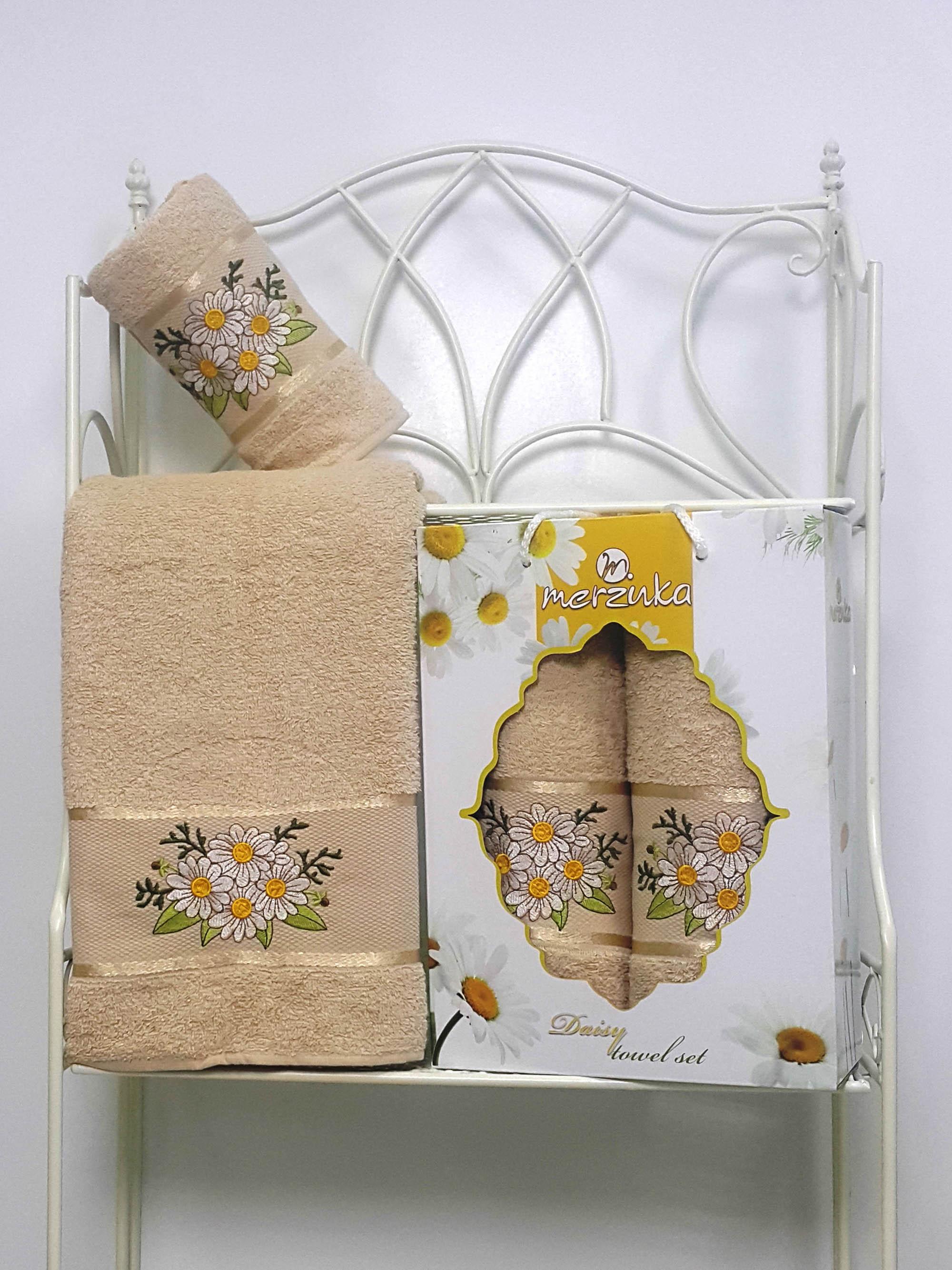 Полотенца Oran Merzuka Набор из 2 полотенец Daisy Цвет: Бежевый набор из 2 полотенец merzuka sakura 50х90 70х140 8430 кремовый