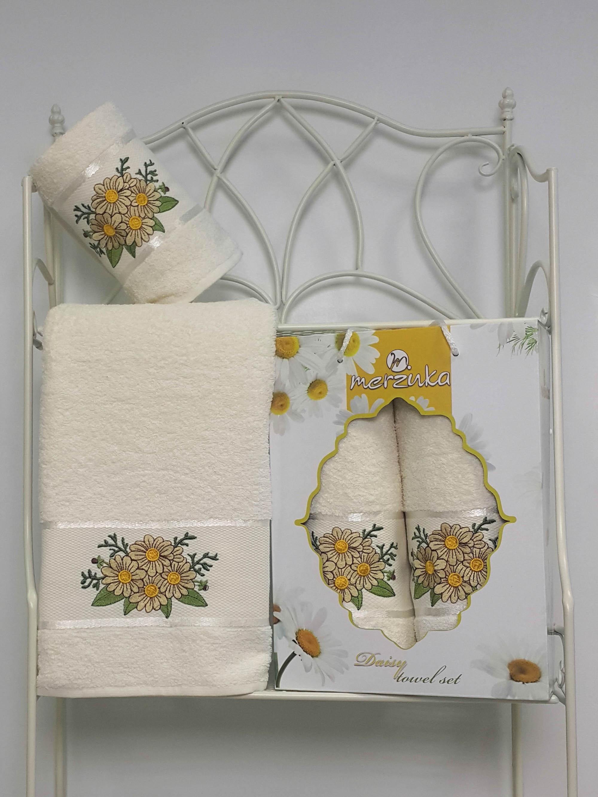 Полотенца Oran Merzuka Набор из 2 полотенец Daisy Цвет: Кремовый набор из 3 полотенец merzuka geo 50х90 2 70х140 8425 кремовый