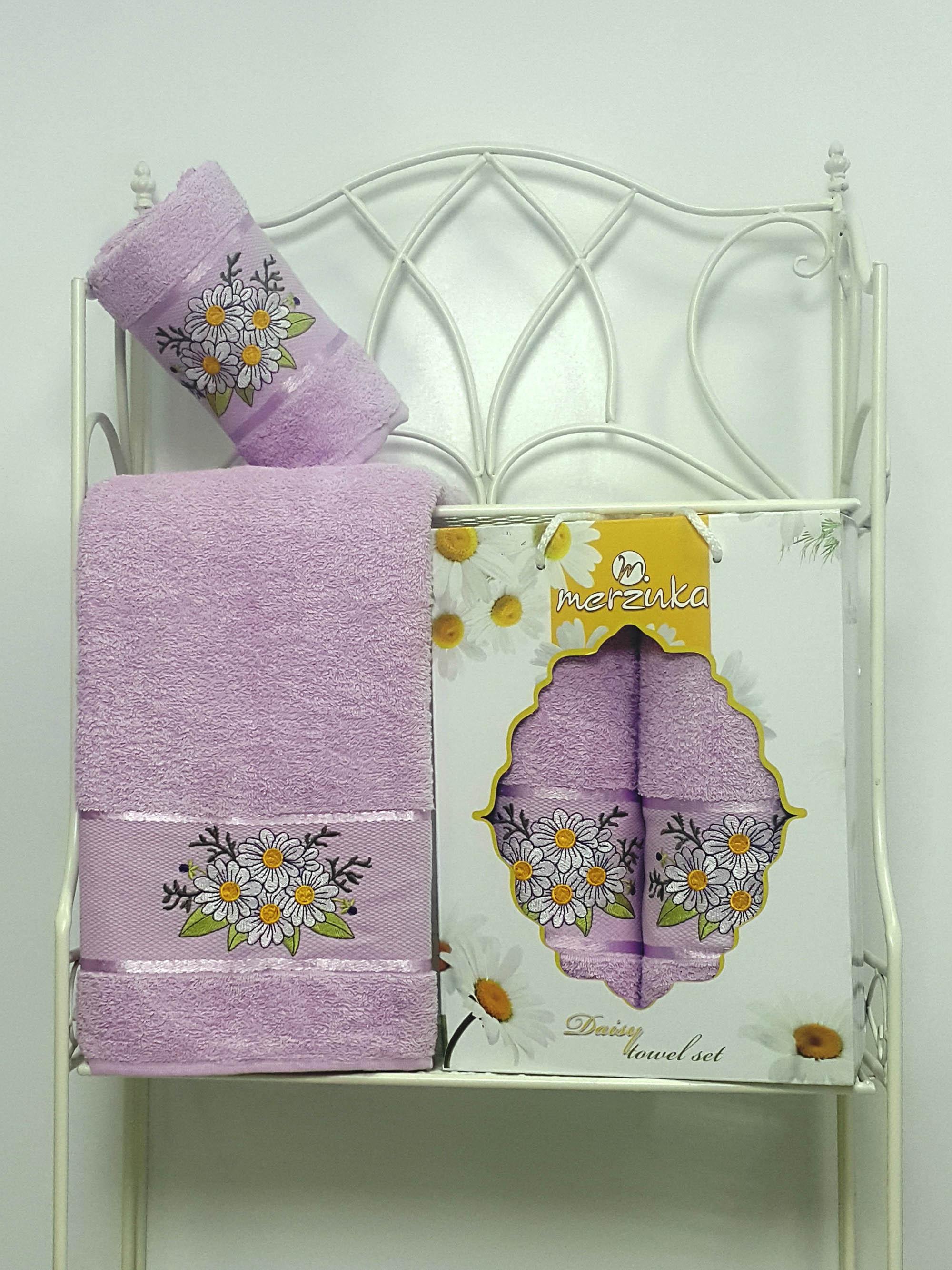Полотенца Oran Merzuka Набор из 2 полотенец Daisy Цвет: Сиреневый полотенца oran merzuka полотенце daisy цвет сиреневый 50х80 см 2 шт 70х130 см