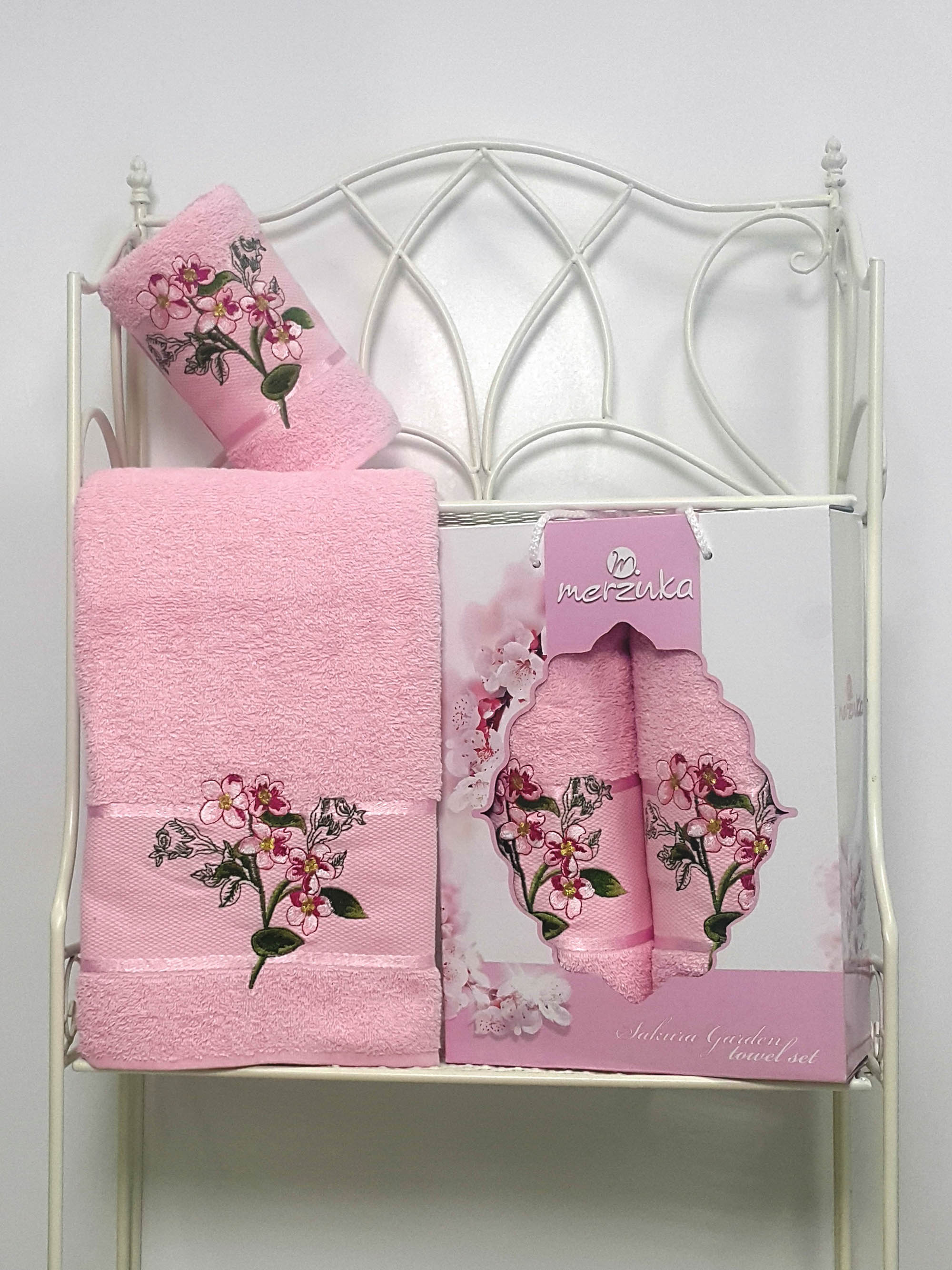 Полотенца Oran Merzuka Набор из 2 полотенец Sakura Garden Цвет: Светло-Розовый набор из 3 полотенец merzuka sakura 50х90 2 70х140 8432 розовый
