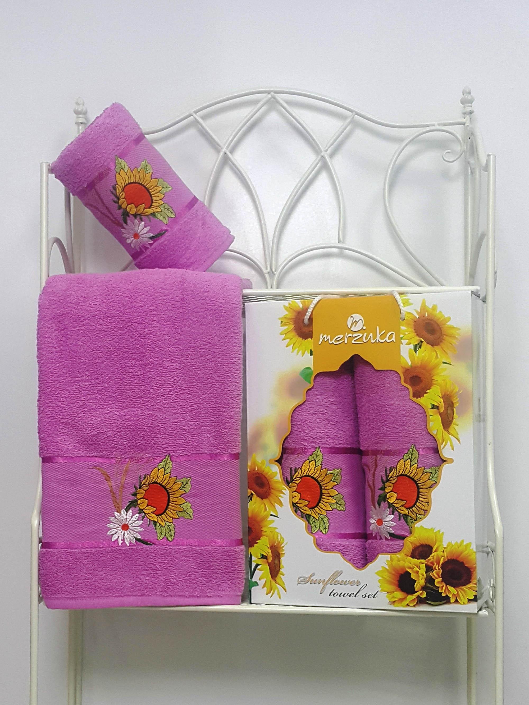 Полотенца Oran Merzuka Набор из 2 полотенец Sunflower Цвет: Светло-Лиловый набор из 2 полотенец merzuka sakura 50х90 70х140 8430 кремовый