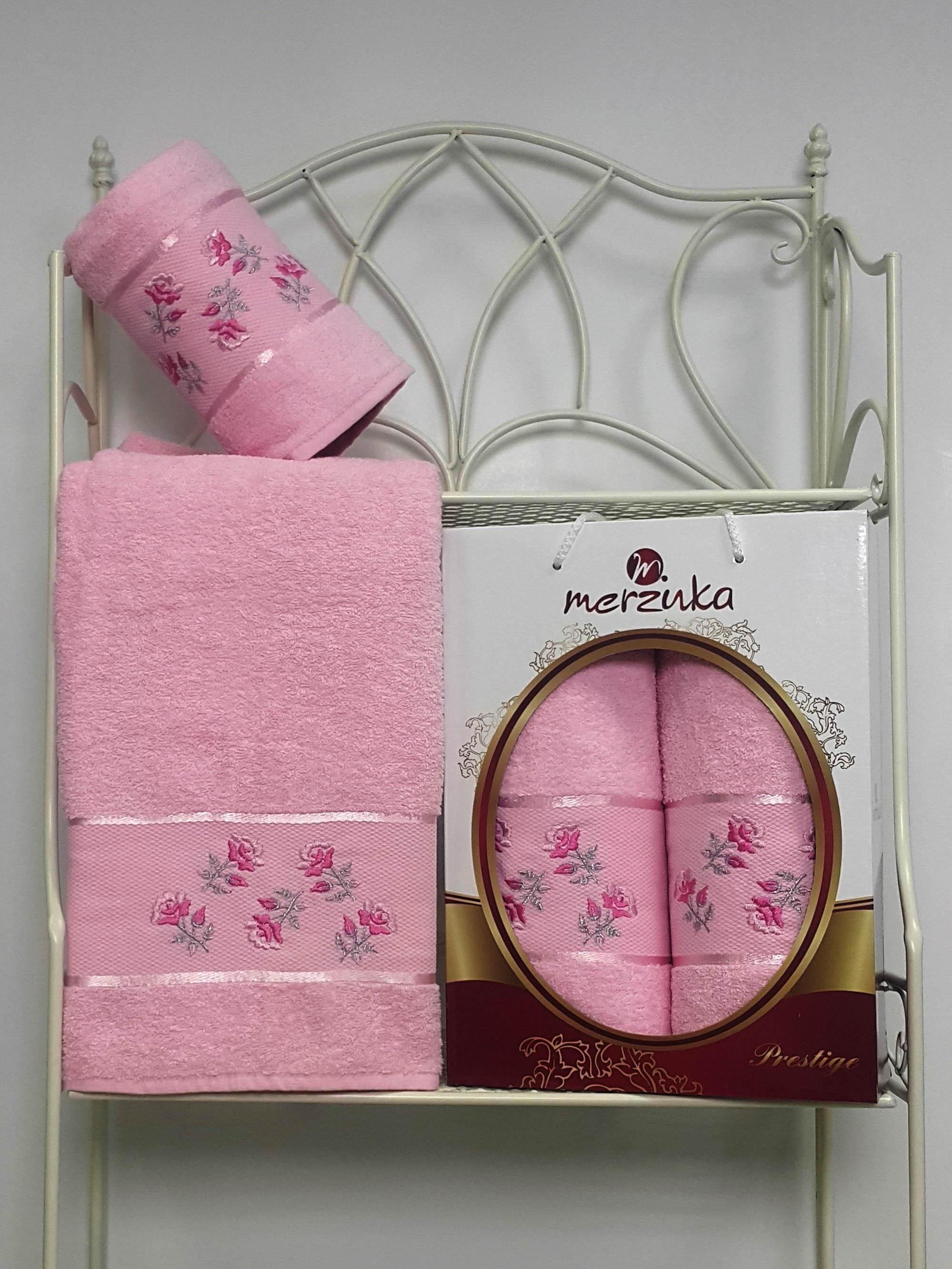 Полотенца Oran Merzuka Набор из 2 полотенец Prestij Цвет: Светло-Розовый набор из 3 полотенец merzuka sakura 50х90 2 70х140 8432 розовый