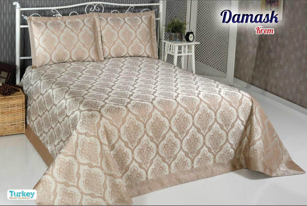 Покрывало DO'n'CO Покрывало Damask Цвет: Бежевый (250х270 см) покрывало karna вельсофт с вышивкой damask 160x220 см 1184141