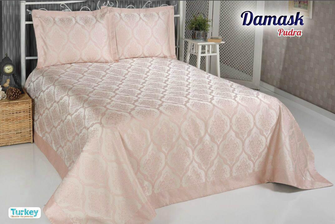 Покрывало DO'n'CO Покрывало Damask Цвет: Пудра (250х270 см) покрывало karna покрывало evony цвет пудра 240х260 см