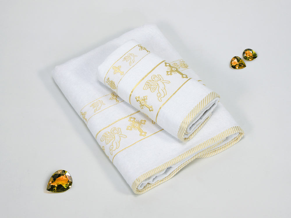 Полотенца Gulcan Детское полотенце Ангелочек Цвет: Золотой (Набор) набор из 3 полотенец merzuka sakura 50х90 2 70х140 8432 терракотовый
