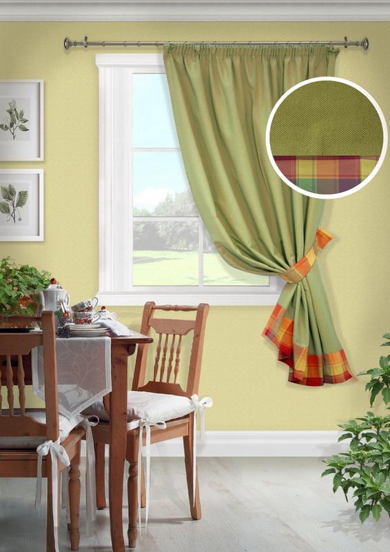 Шторы Kauffort Классические шторы Monpasie Цвет: Салатовый портьеры kauffort штора на тесьме naturel k 136х175 см с подхватом