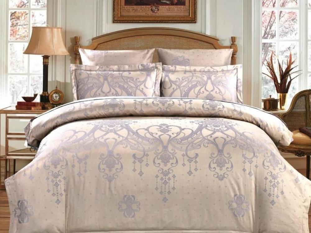 Постельное белье Asabella Постельное белье Lalla (2 сп. евро) asabella постельное белье евро жаккард сатин 2 нав 50х70 вышивка золотой
