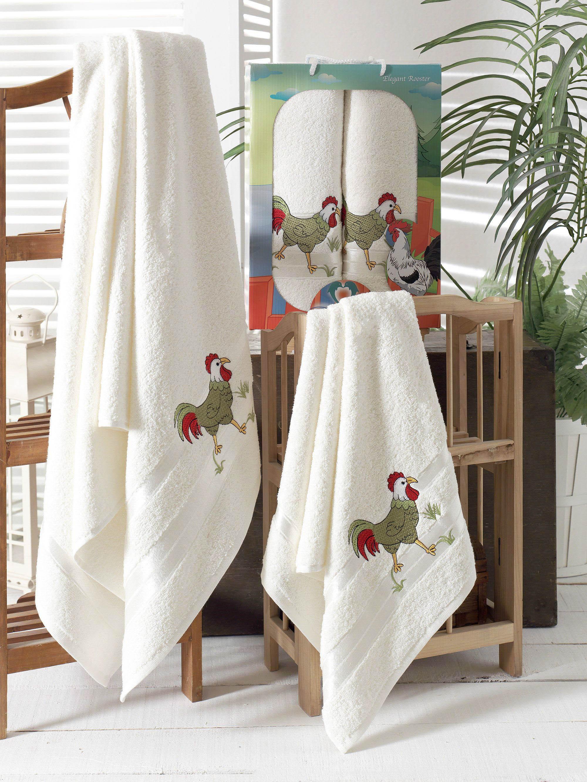 Полотенца Two Dolphins Набор из 2 полотенец Символ Года Цвет: Кремовый набор из 2 полотенец merzuka sakura 50х90 70х140 8430 кремовый