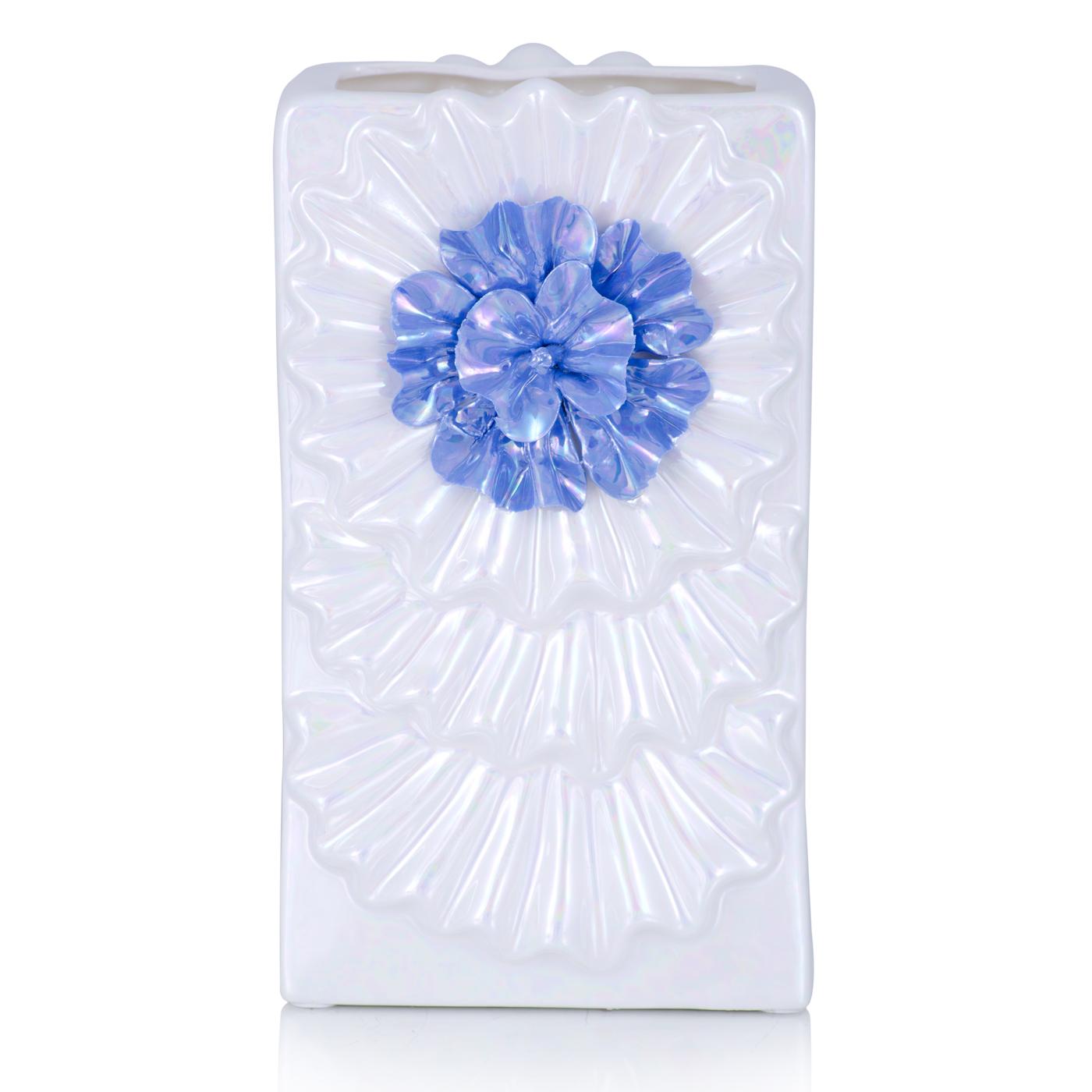 {} Home Philosophy Ваза Gladise Цвет: Перламутровый (10х15х26 см) home philosophy ваза mariana цвет молочный набор