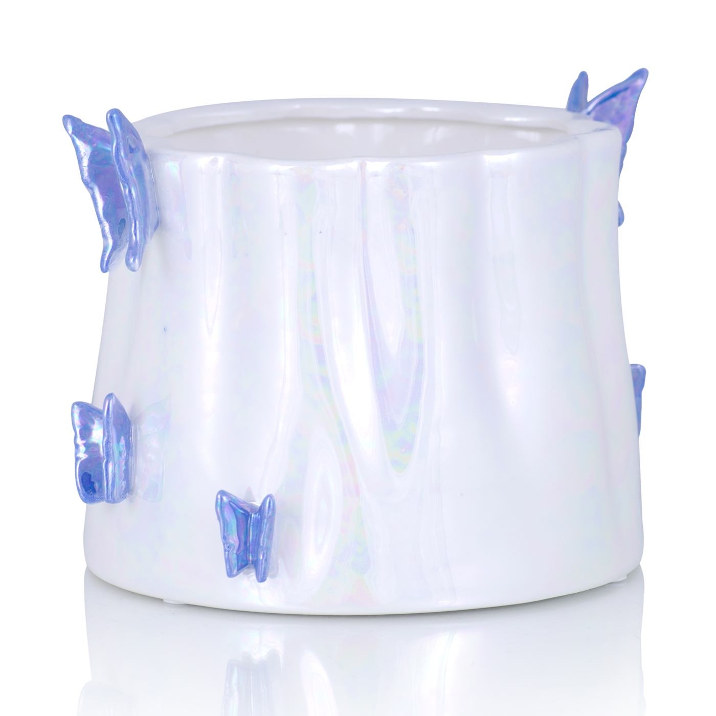 {} Home Philosophy Ваза Avery Цвет: Перламутровый-Синий (16х17х20 см) home philosophy ваза mariana цвет молочный набор