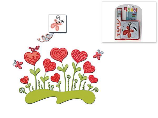 {} ENS GROUP Наклейка интерьерная Валентинов День (3х15х15 см) истории любви в валентинов день