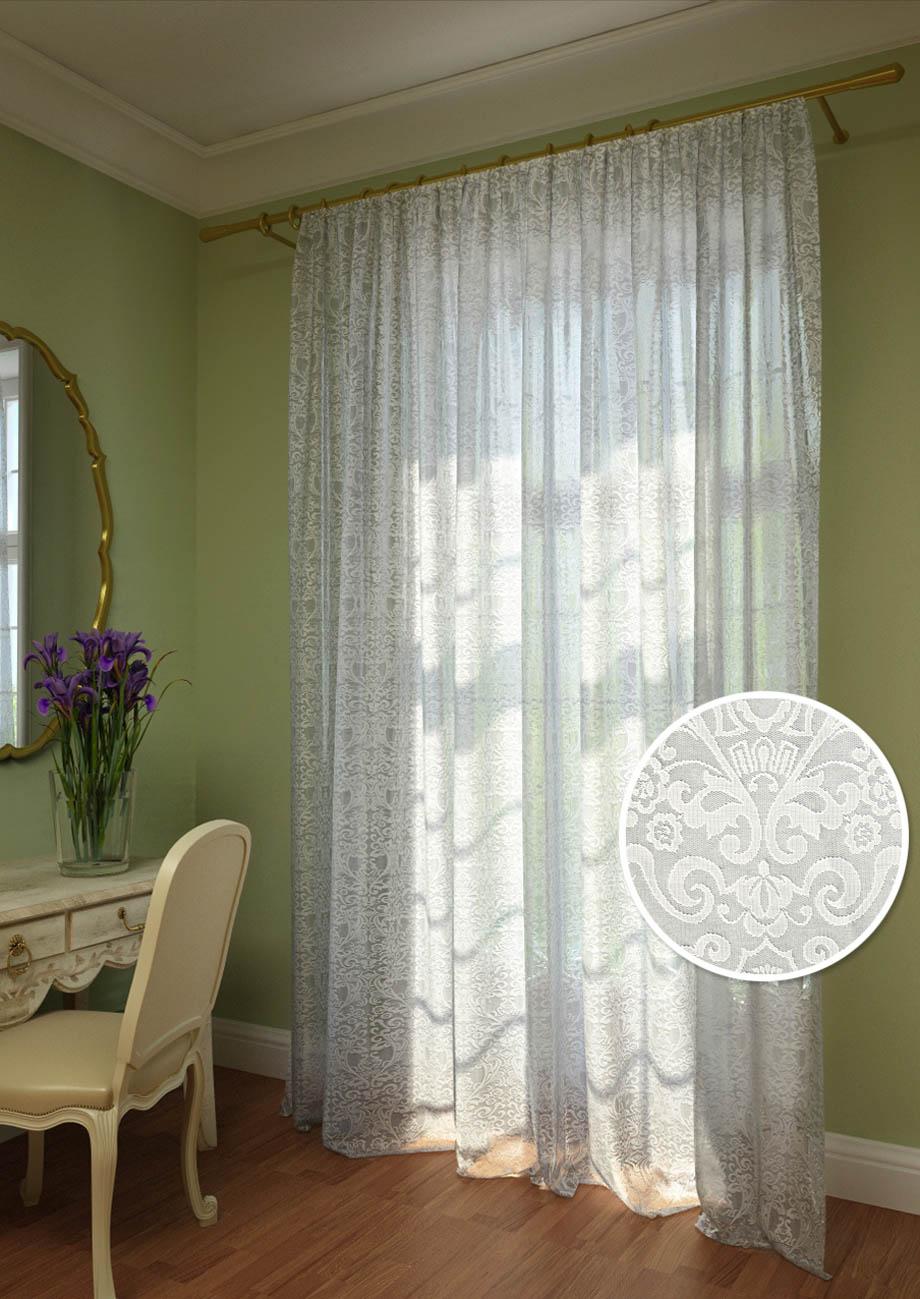 Шторы Kauffort Классические шторы Milla как тюль на окно
