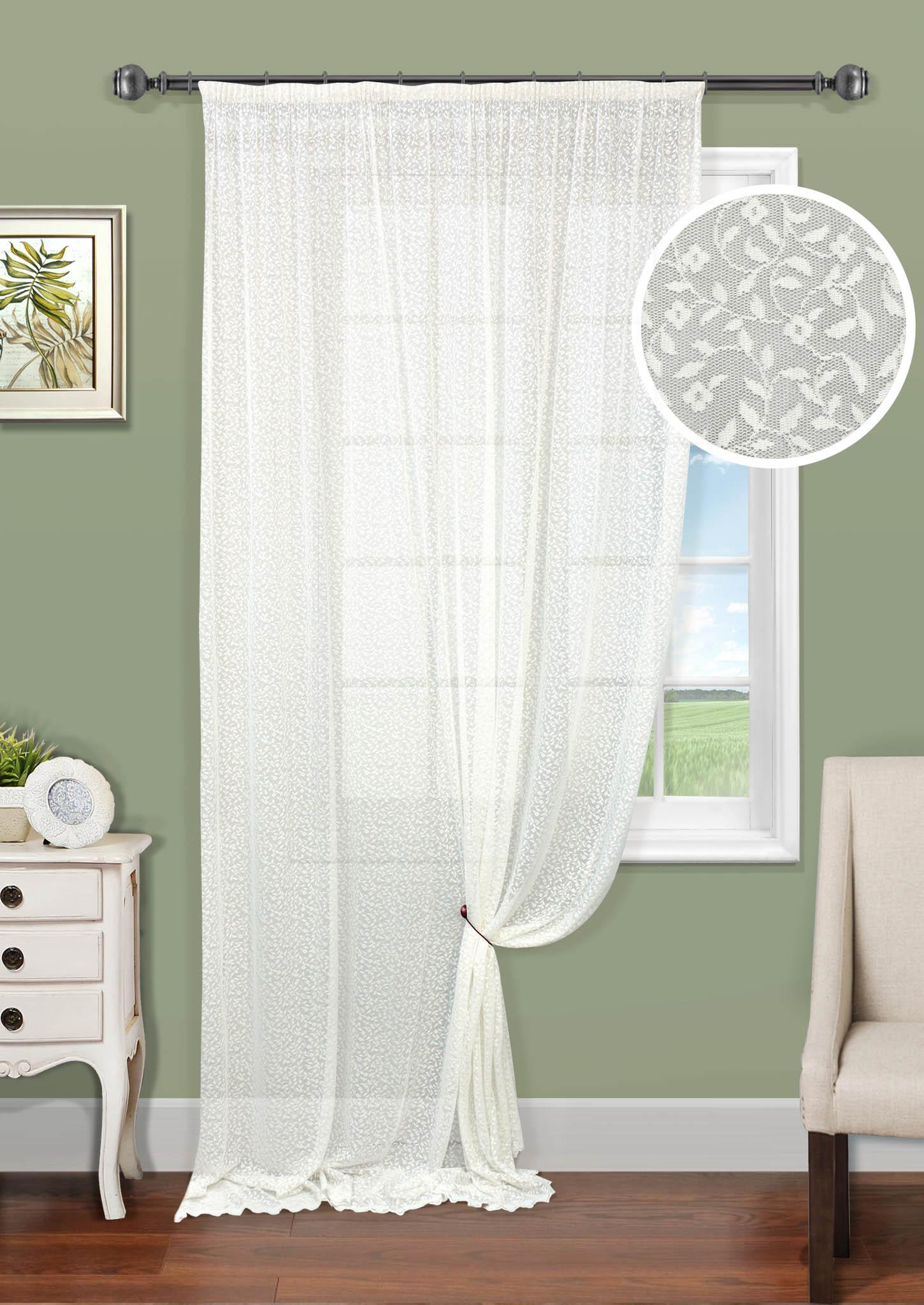 Шторы Kauffort Классические шторы Lesya-SH как тюль на окно