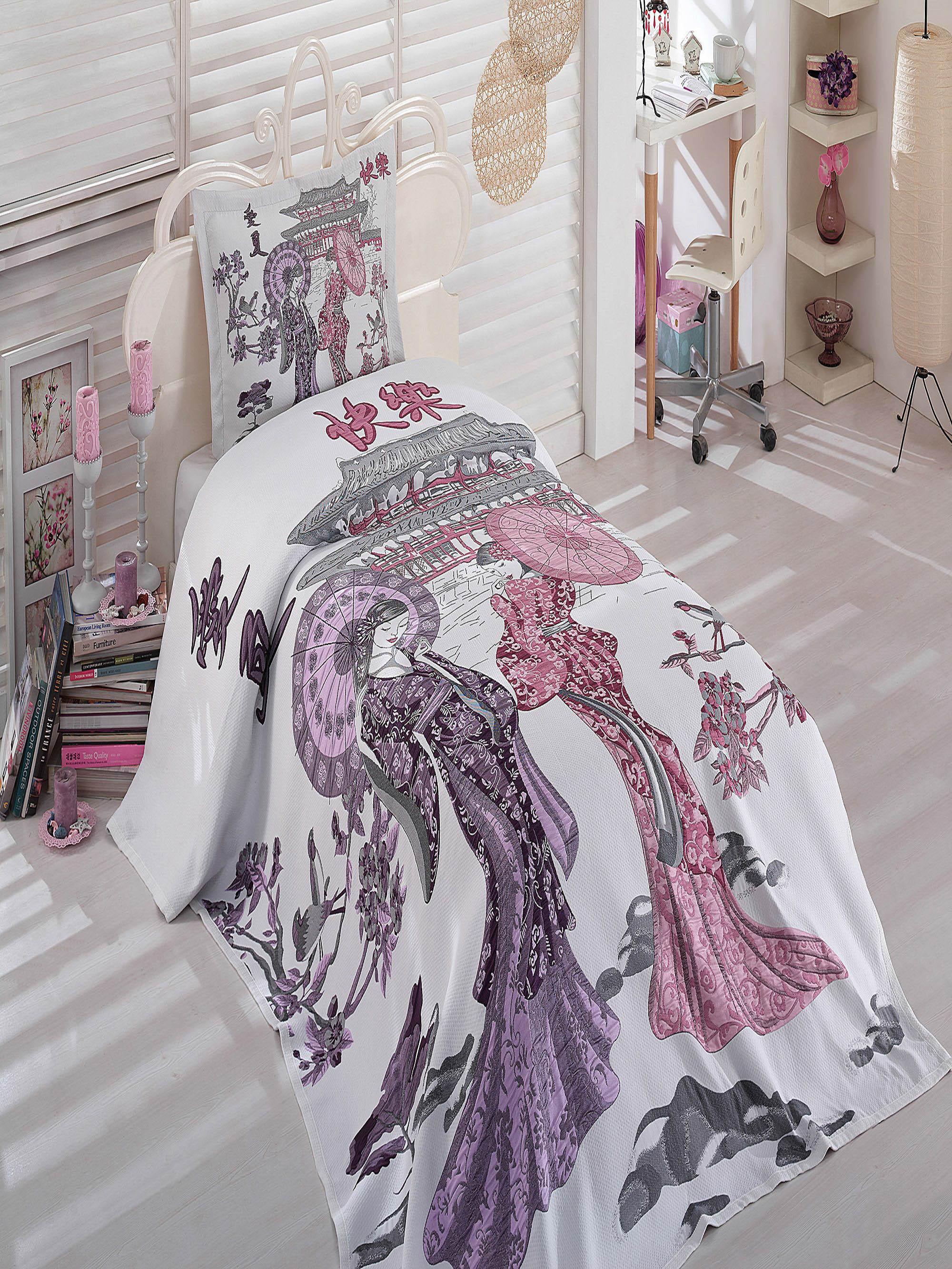 где купить Покрывало Dantela Vita Покрывало Travel Цвет: Лиловый (180х240 см) по лучшей цене