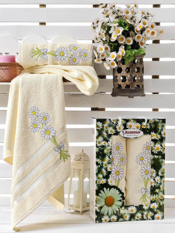 Полотенца Juanna Набор из 2 полотенец Papatya Цвет: Кремовый набор из 2 полотенец merzuka sakura 50х90 70х140 8430 кремовый