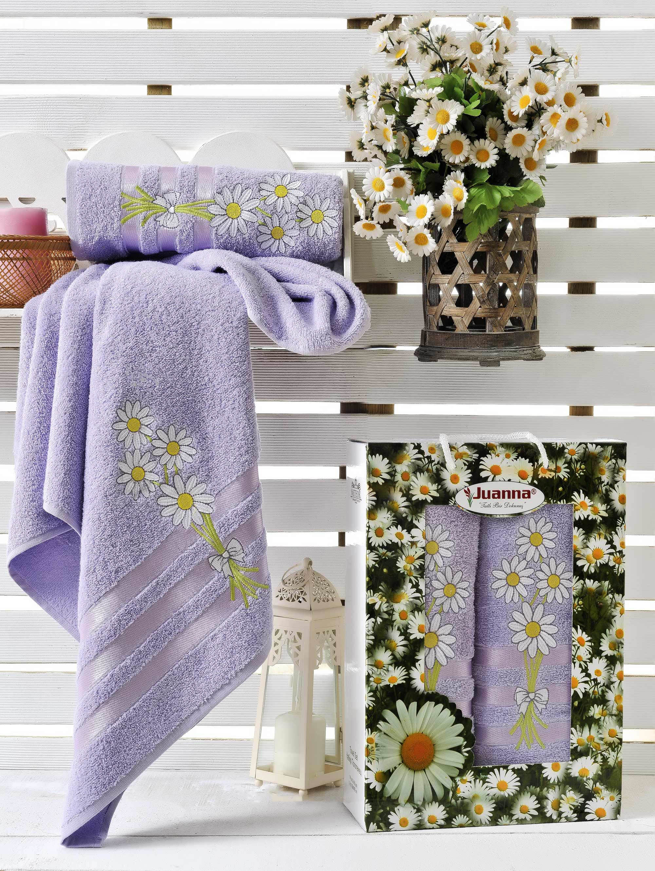 Полотенца Juanna Набор из 2 полотенец Papatya Цвет: Лиловый набор из 3 полотенец merzuka sakura 50х90 2 70х140 8432 светло лиловый