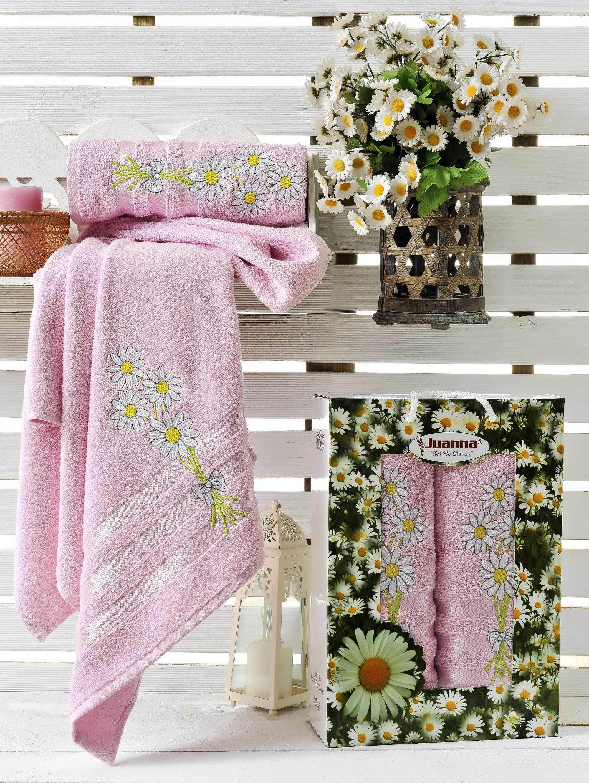 где купить Полотенца Juanna Набор из 2 полотенец Papatya Цвет: Розовый по лучшей цене