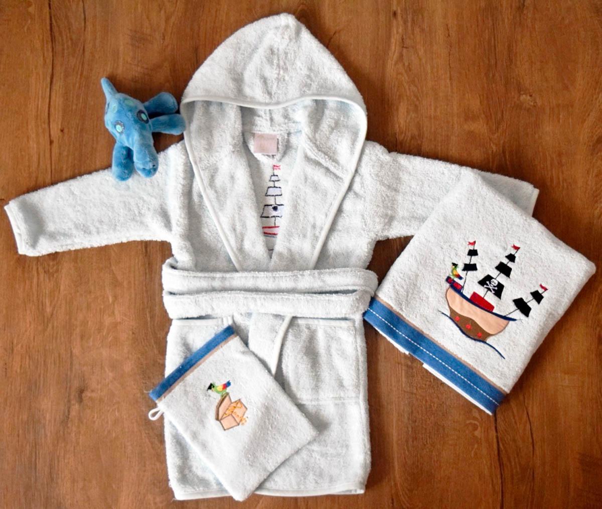 Детские халаты Arya Детский халат Pirate Цвет: Голубой (1-3 года) халаты домашние лори халат