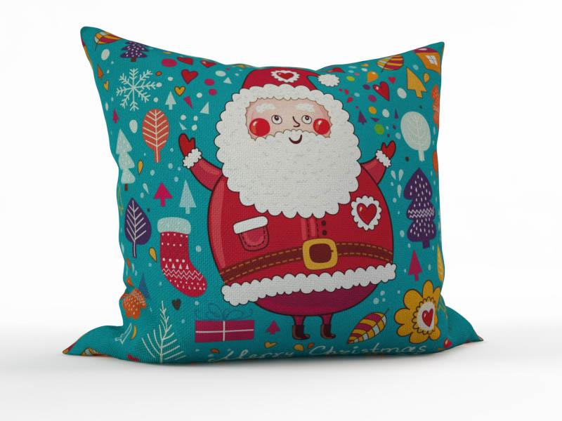 Декоративные подушки StickButik Декоративная подушка Веселый Санта (45х45)